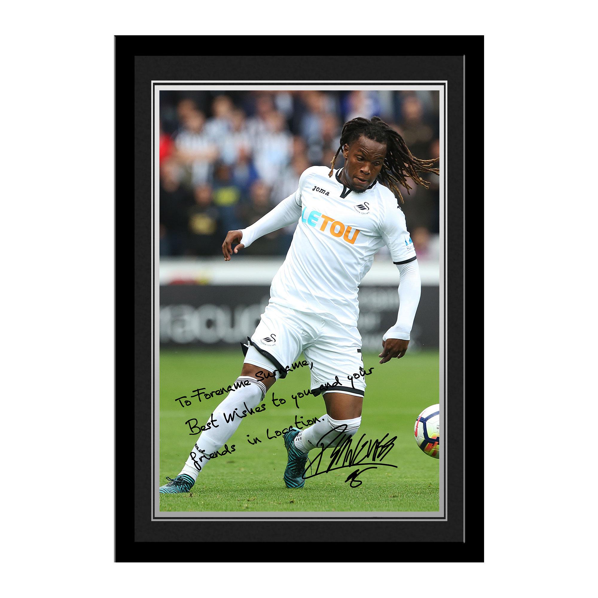 Swansea City AFC Sanches Autograph Photo Framed