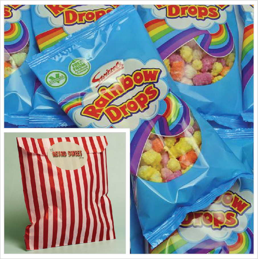 Rainbow Drops Sweet Bag