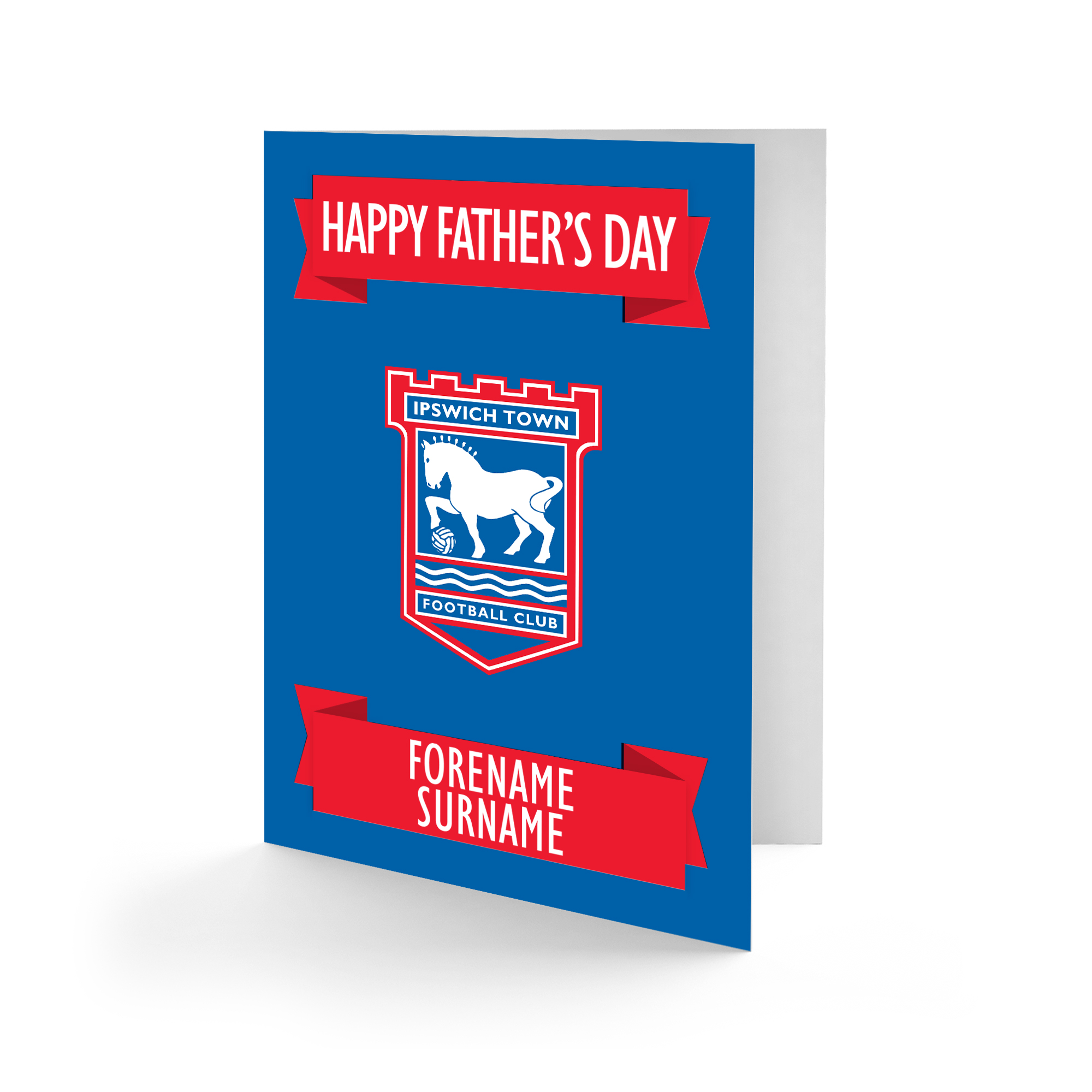 Ipswich Town FC Crest Father's Day Card