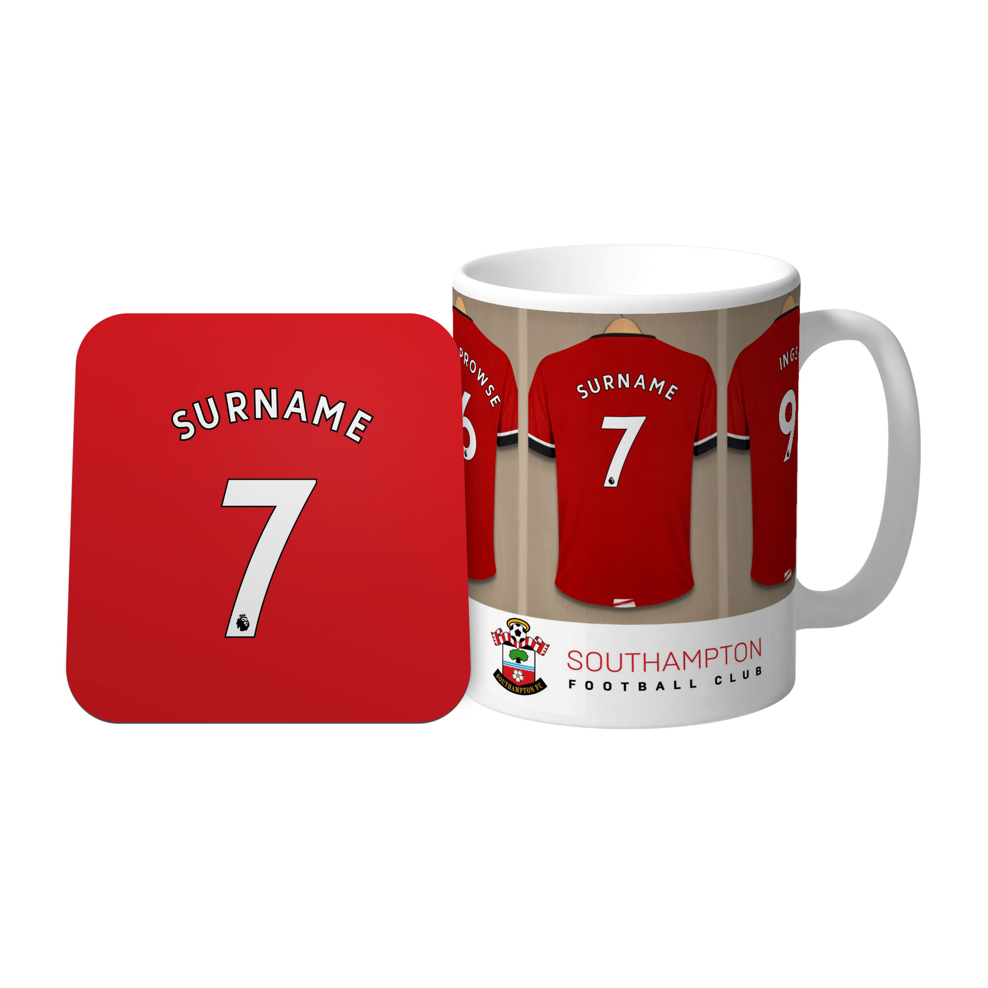 Southampton FC Dressing Room Mug & Coaster Set
