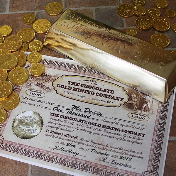 Chocolate Coin Bullion Bar