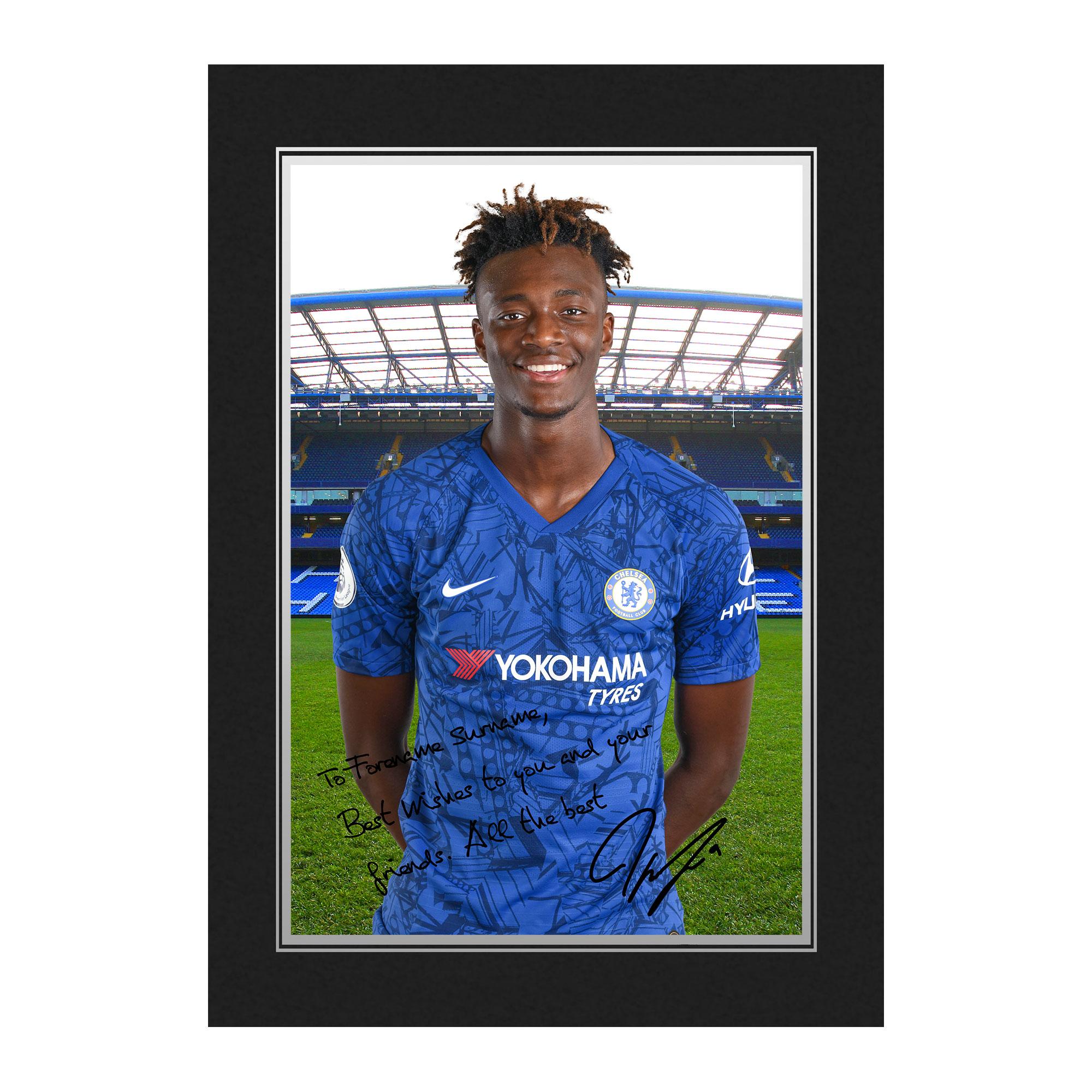 Chelsea FC Abraham Autograph Photo Folder