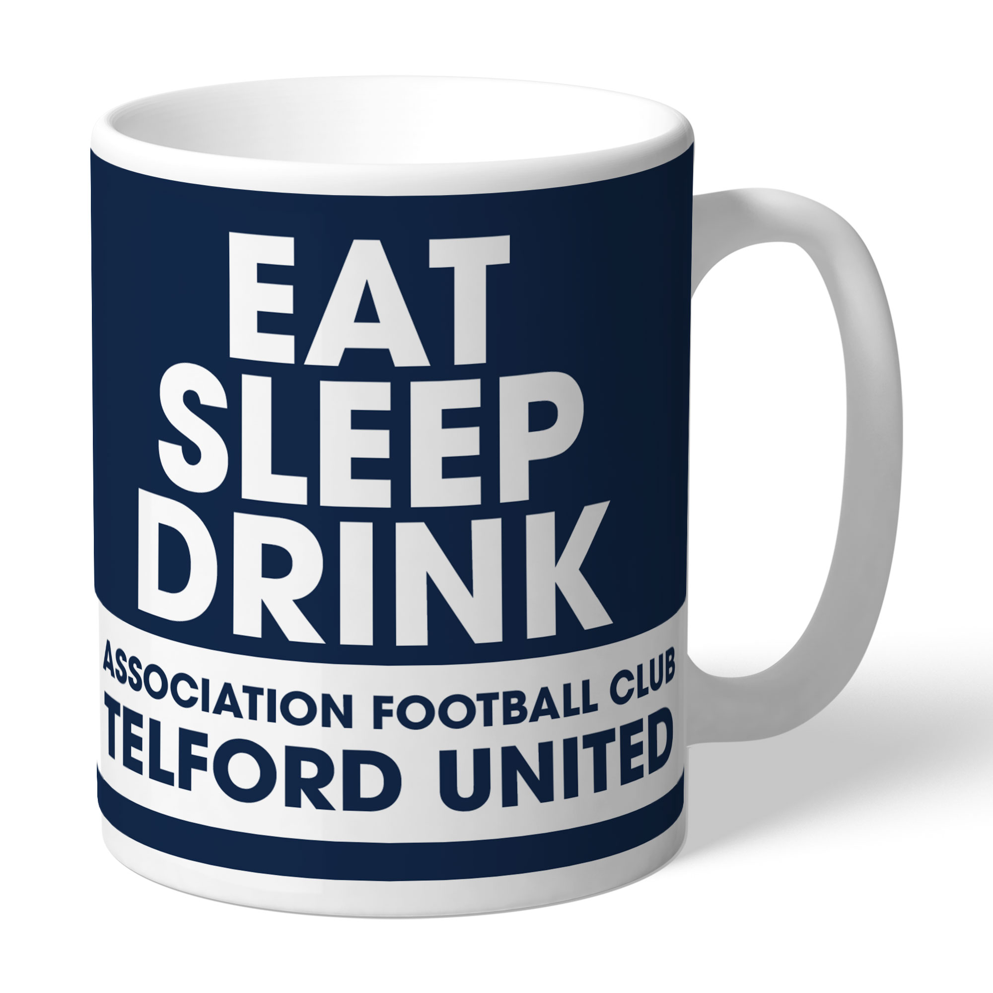 AFC Telford United Eat Sleep Drink Mug