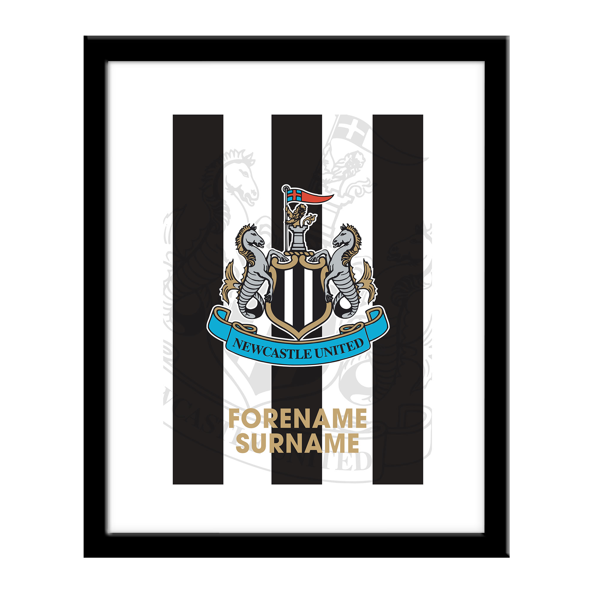 Newcastle United FC Bold Crest Print