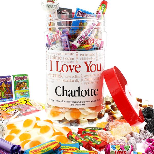 I Love You  Retro Sweet Jar