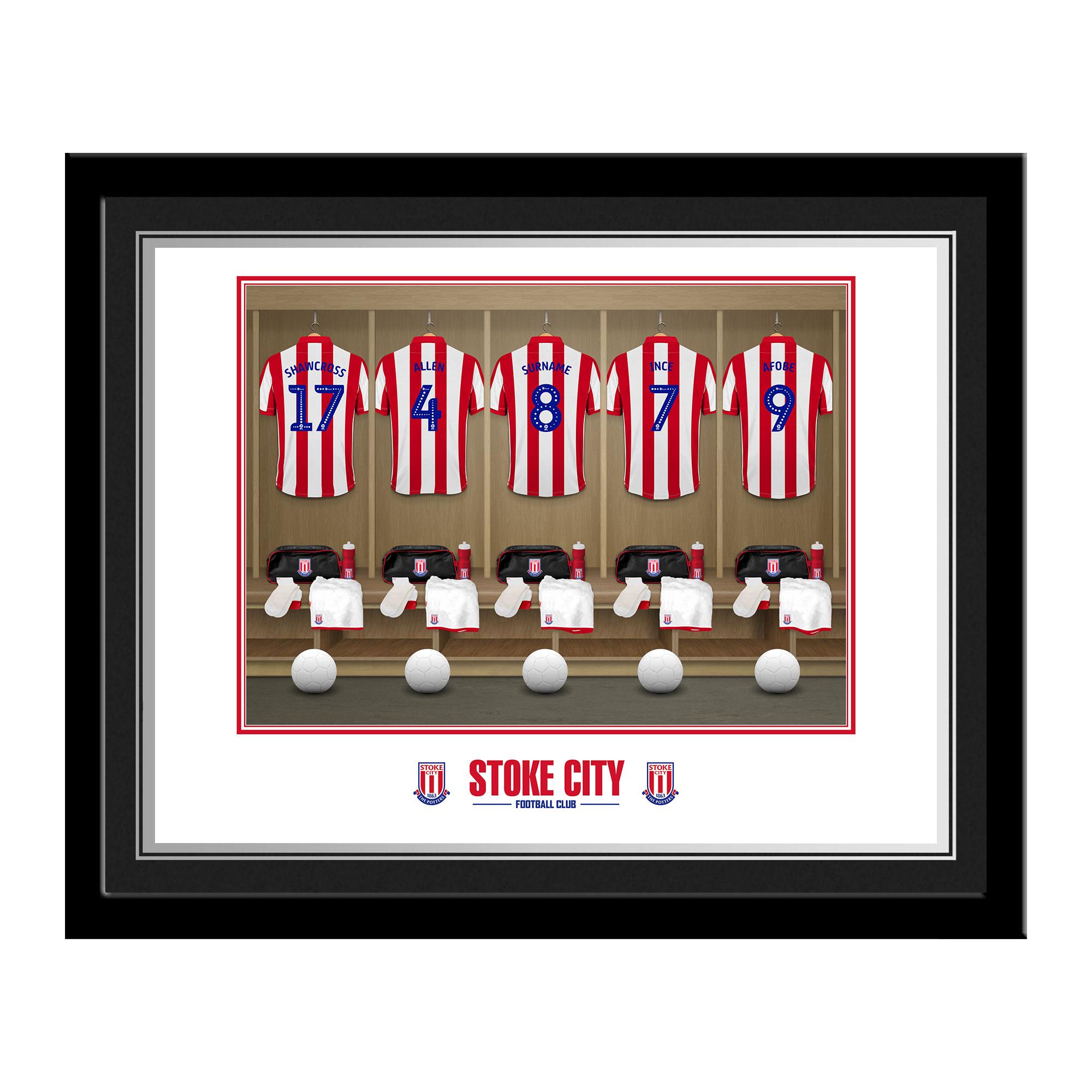 Stoke City FC Dressing Room Photo Framed
