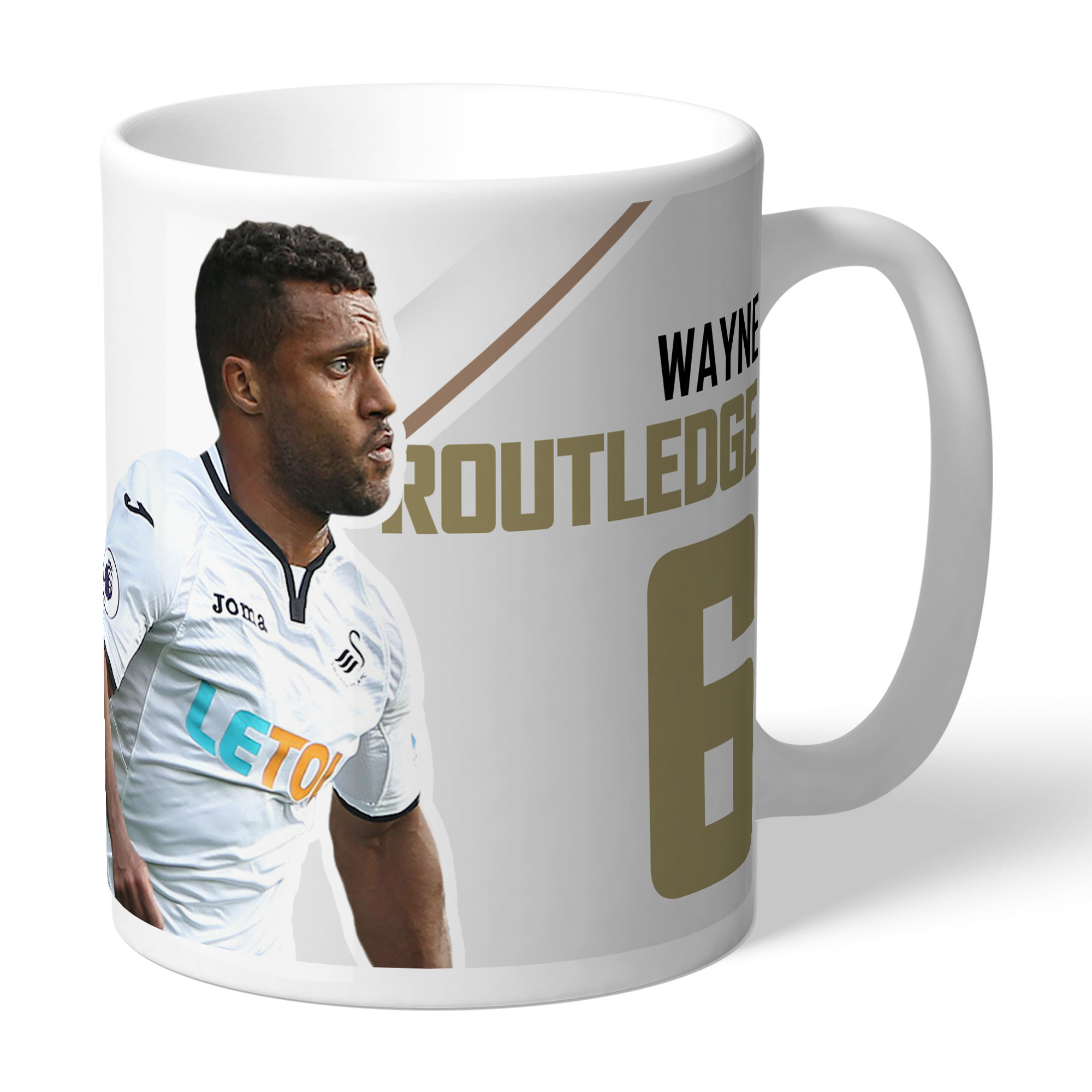 Swansea City AFC Routledge Autograph Mug