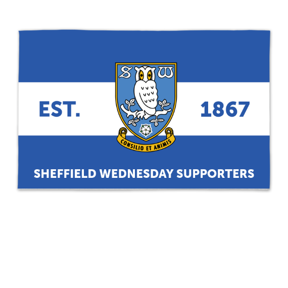 Sheffield Wednesday FC Supporters 8ft x 5ft Banner
