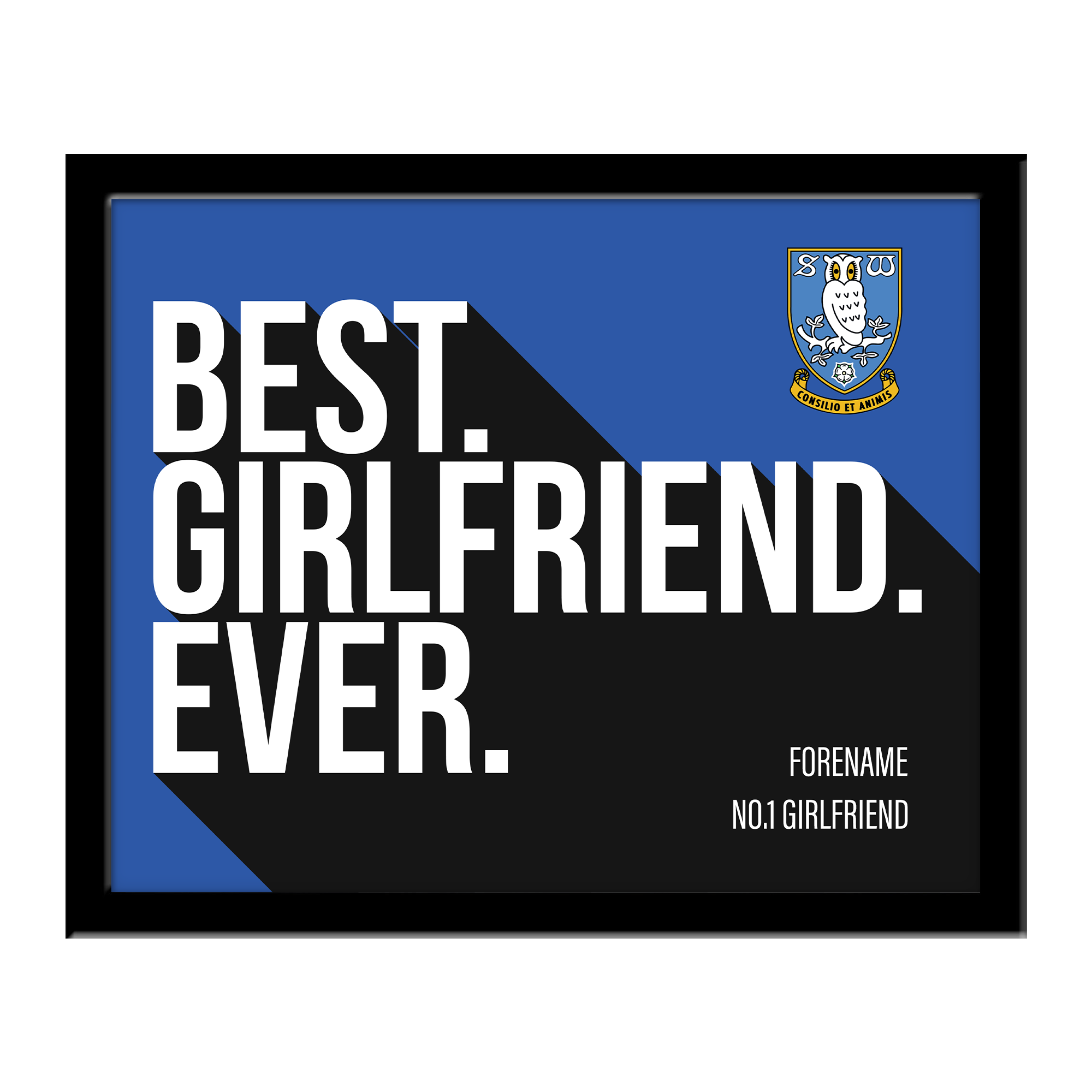 Sheffield Wednesday Best Girlfriend Ever 10 x 8 Photo Framed