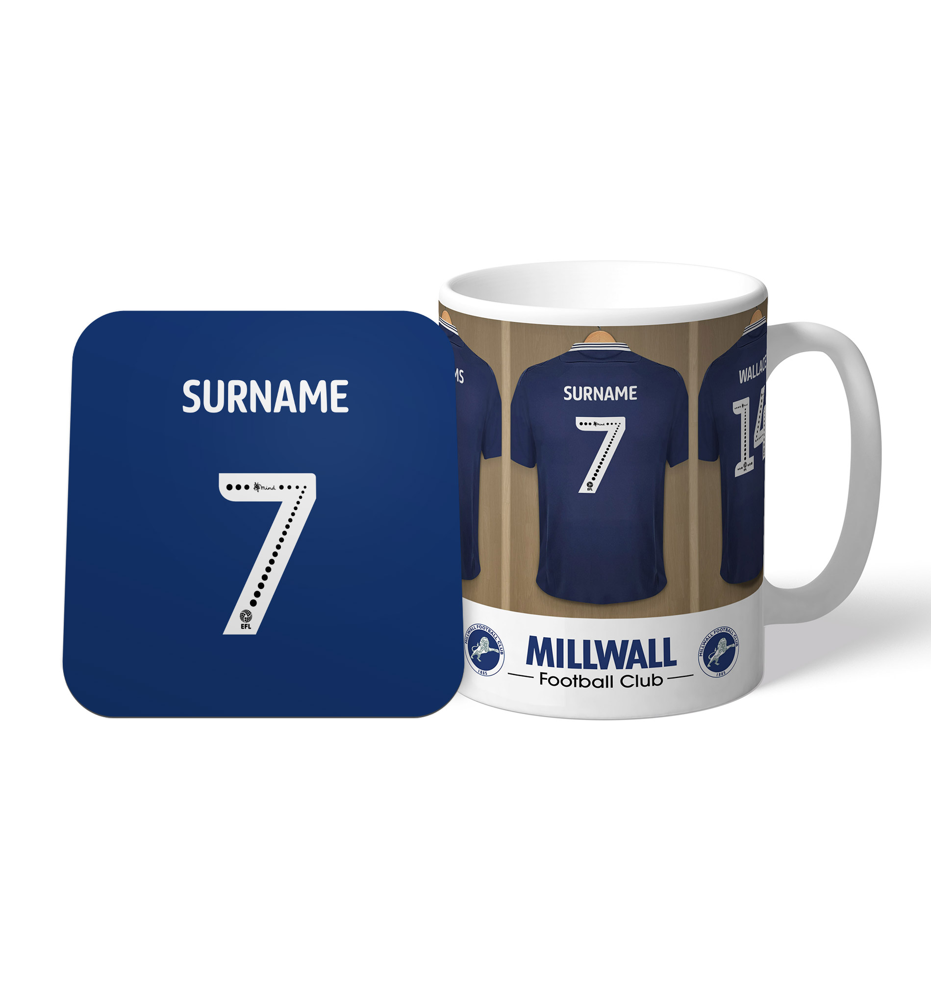 Millwall FC Dressing Room Mug & Coaster Set