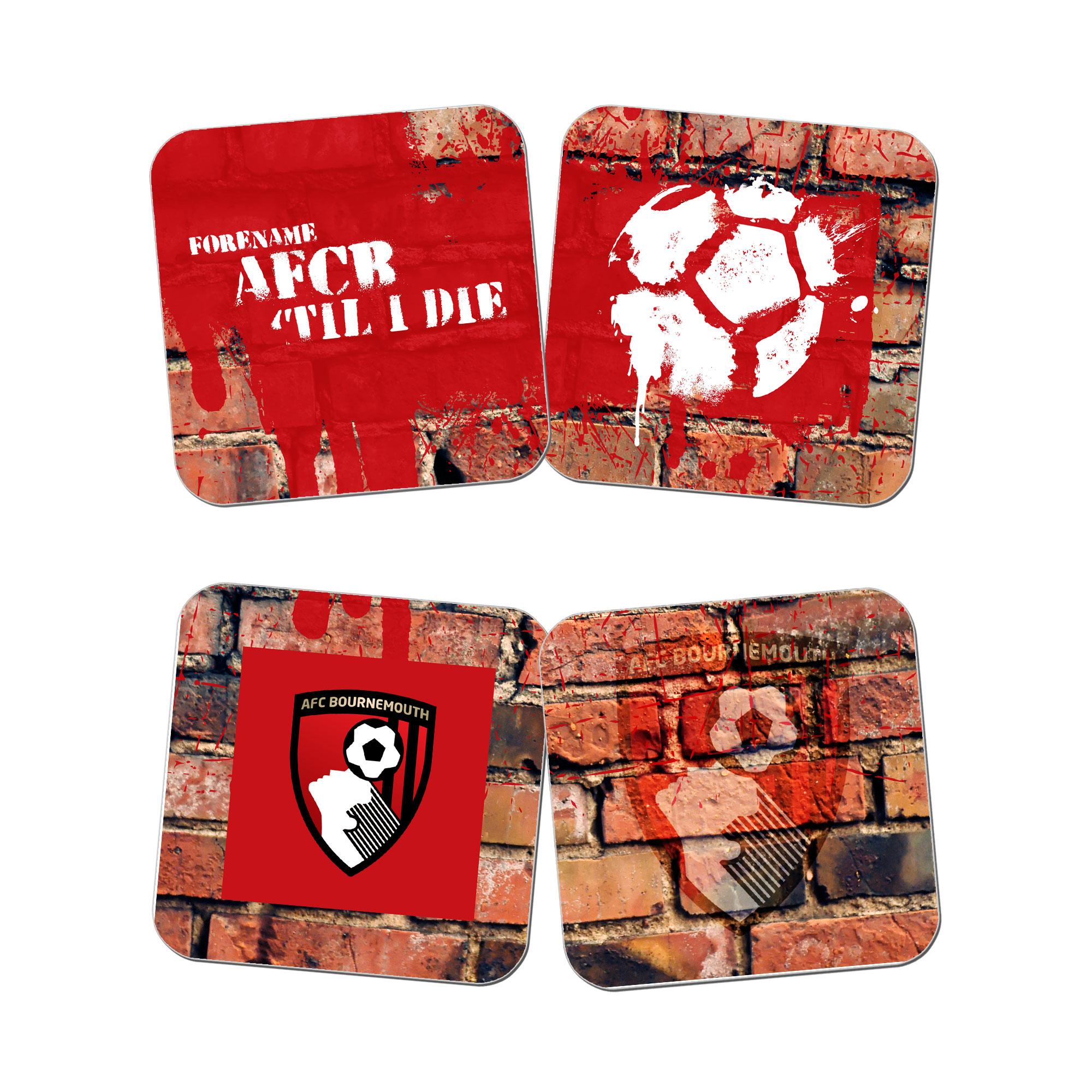 AFC Bournemouth 'Til I Die Coasters (x4)