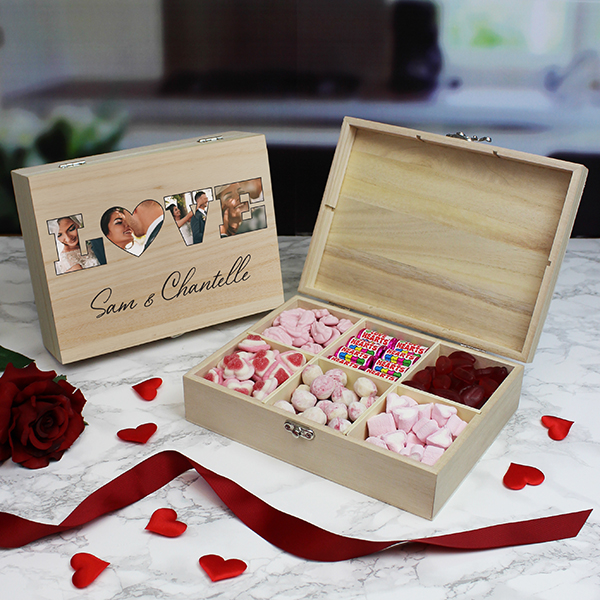 LOVE' Photo Gift - 6 Compartment Sweet Box