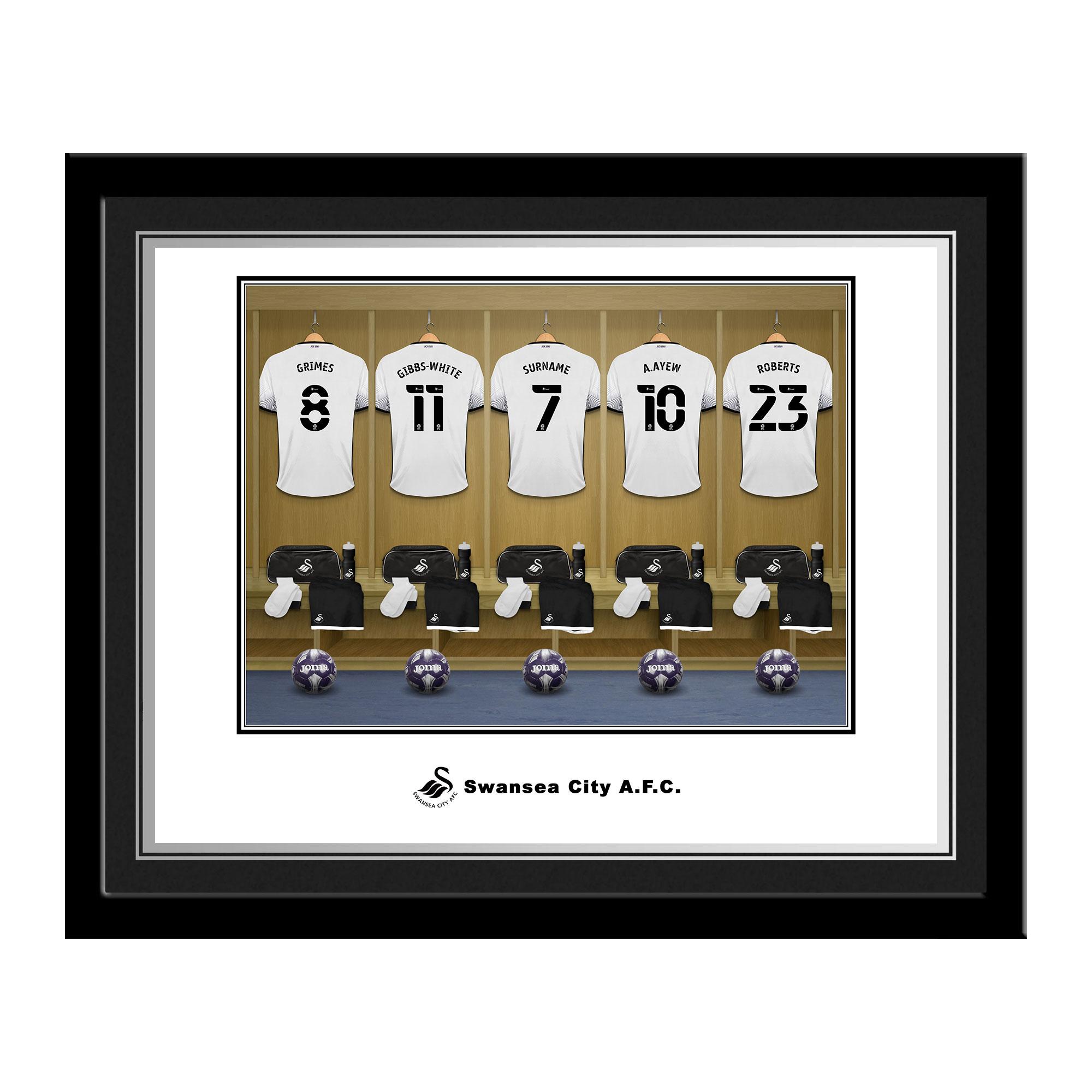 Swansea City AFC Dressing Room Photo Framed
