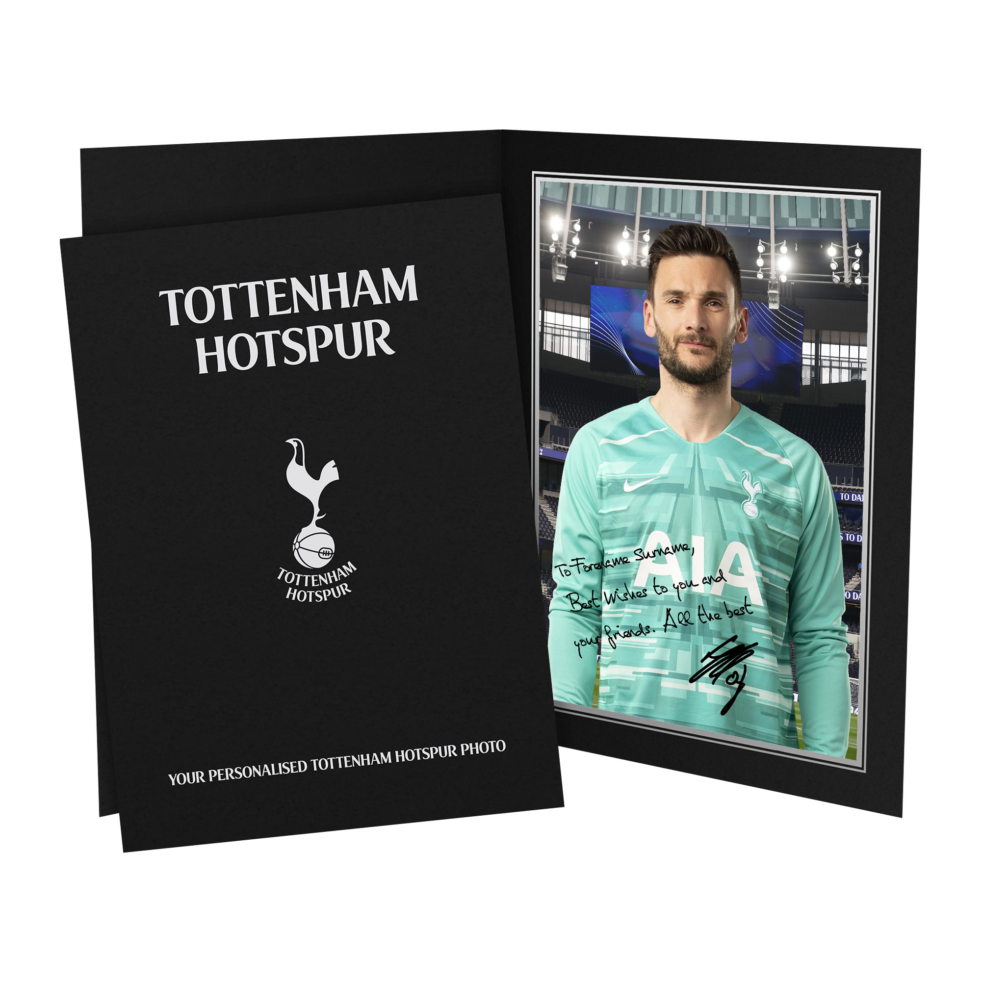 Tottenham Hotspur Lloris Autograph Photo Folder