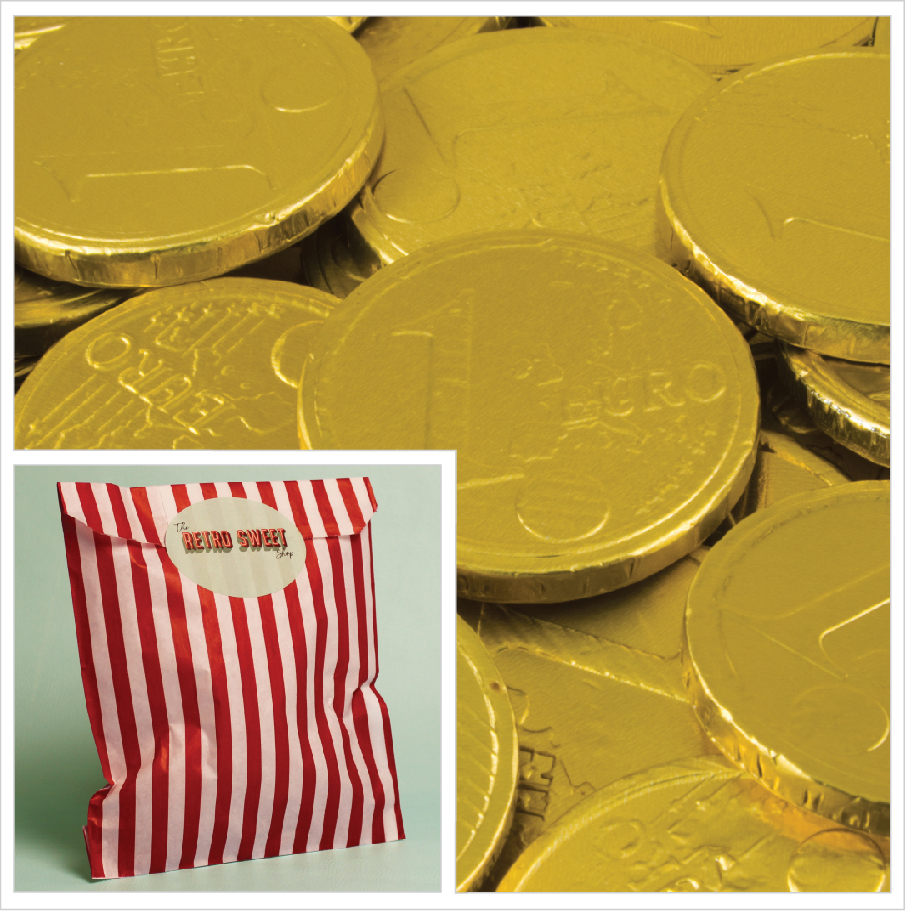 Chocolate Coins Sweet Bag