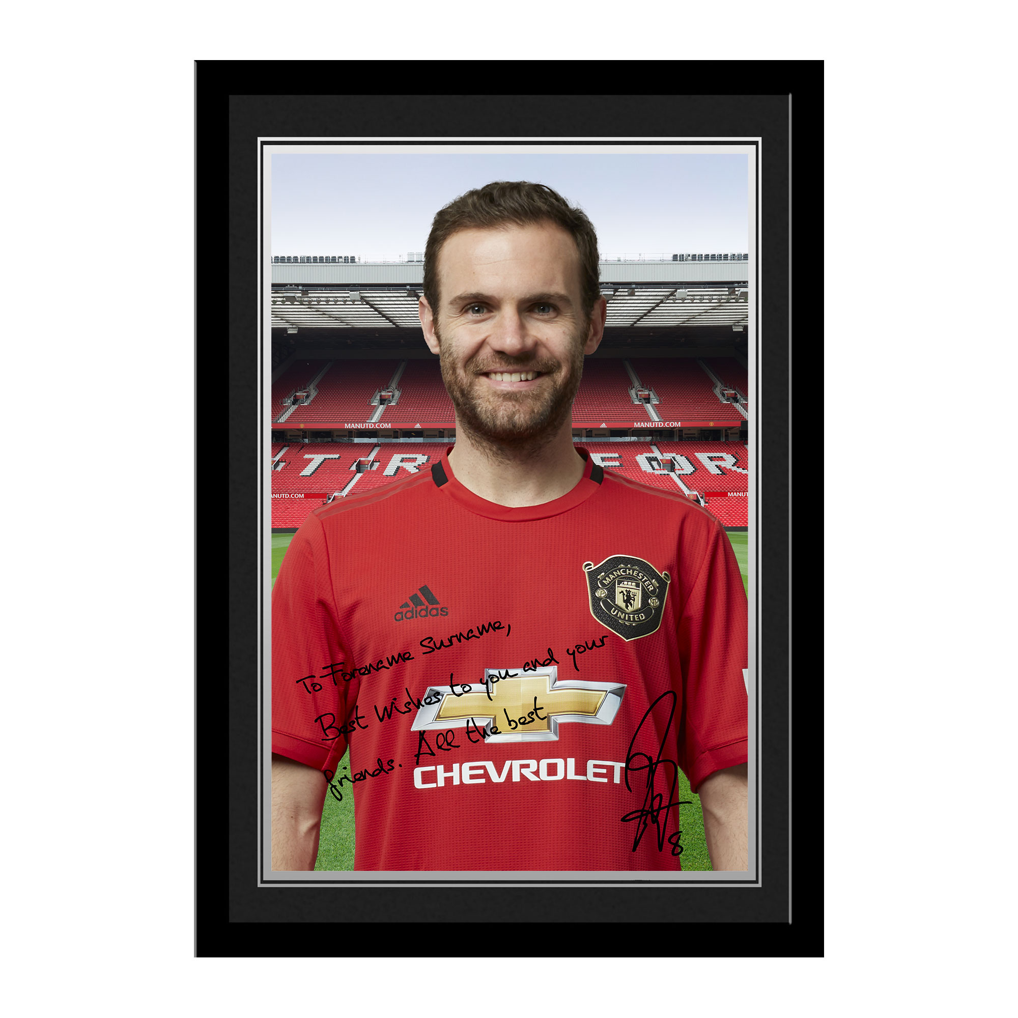 Manchester United FC Mata Autograph Photo Framed