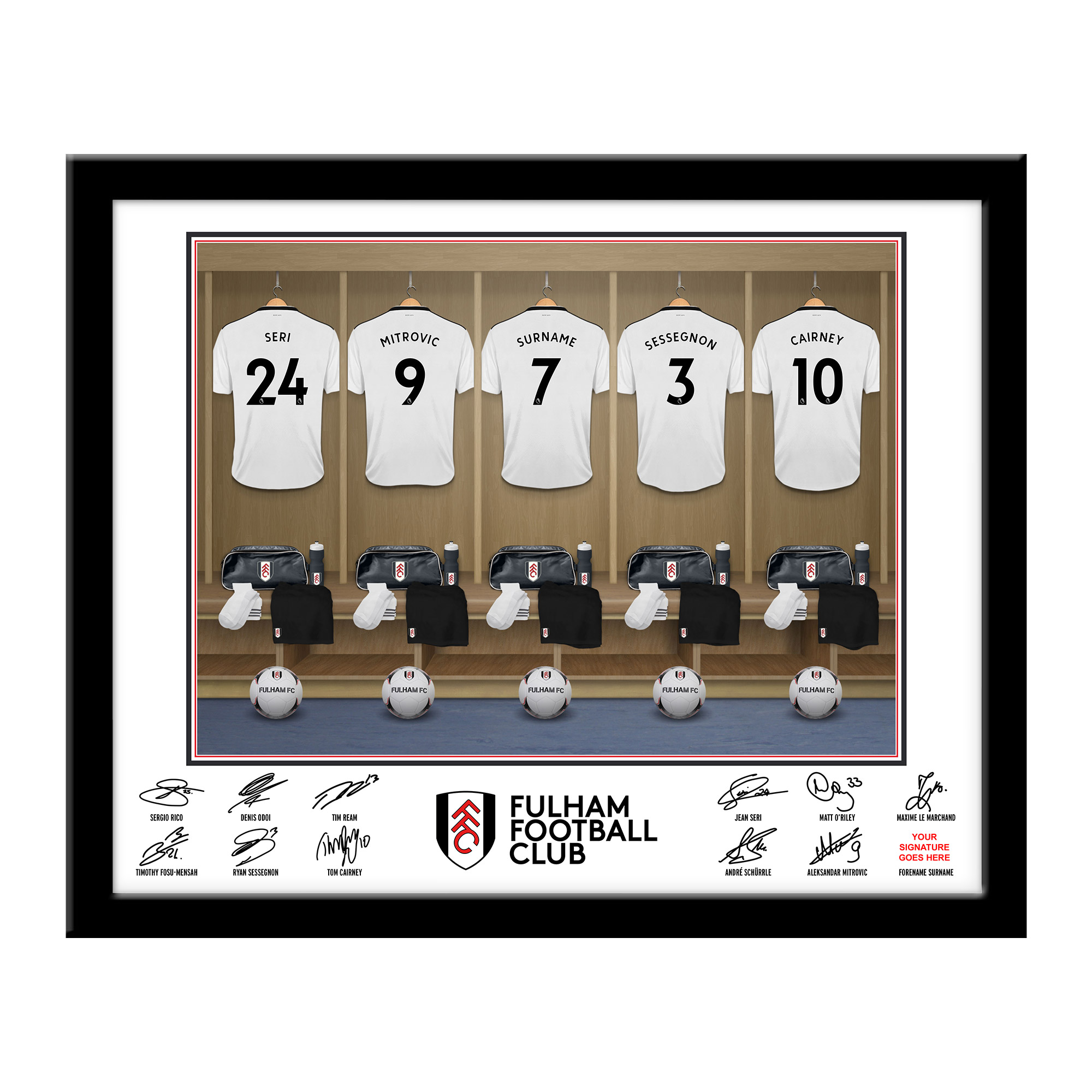 Fulham FC Dressing Room Framed Print