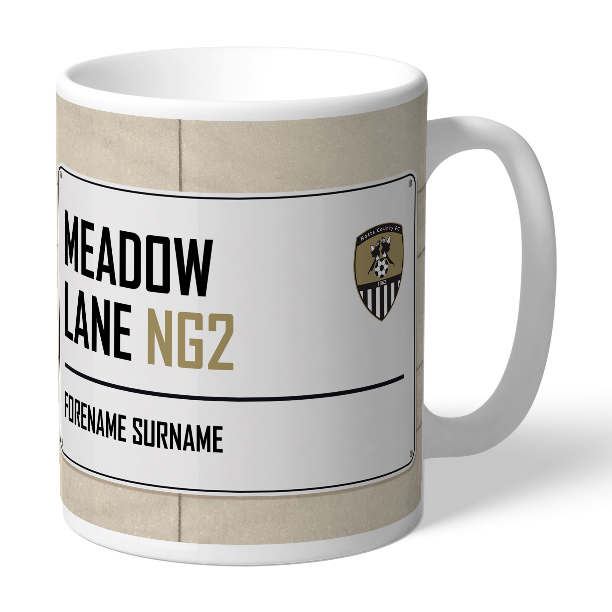Notts County FC Street Sign Mug