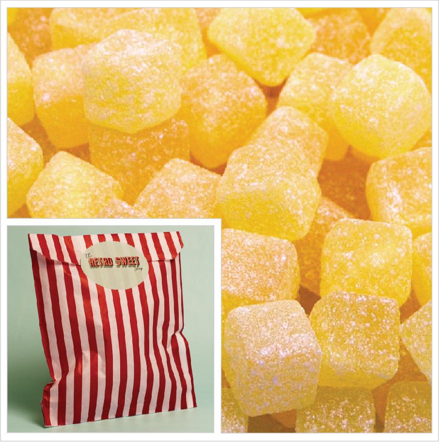 Pineapple Cubes Sweet Bag