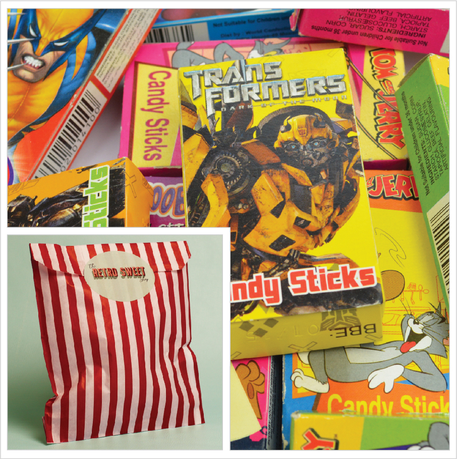 Candy Sticks Sweet Bag