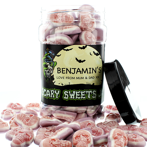 Jelly filled Candy Skulls Sweet Jars