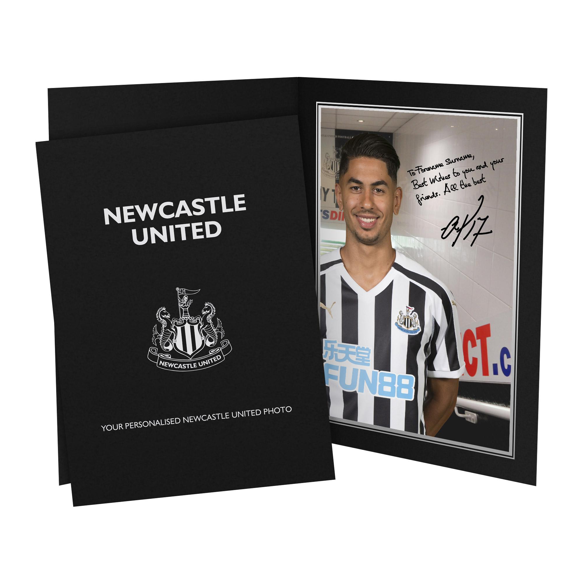 Newcastle United FC Perez Autograph Photo Folder