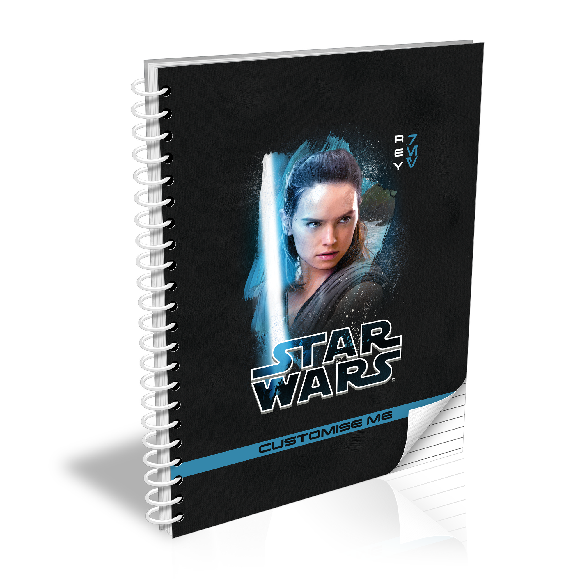 Star Wars Rey Last Jedi Spray Paint A5 Notebook