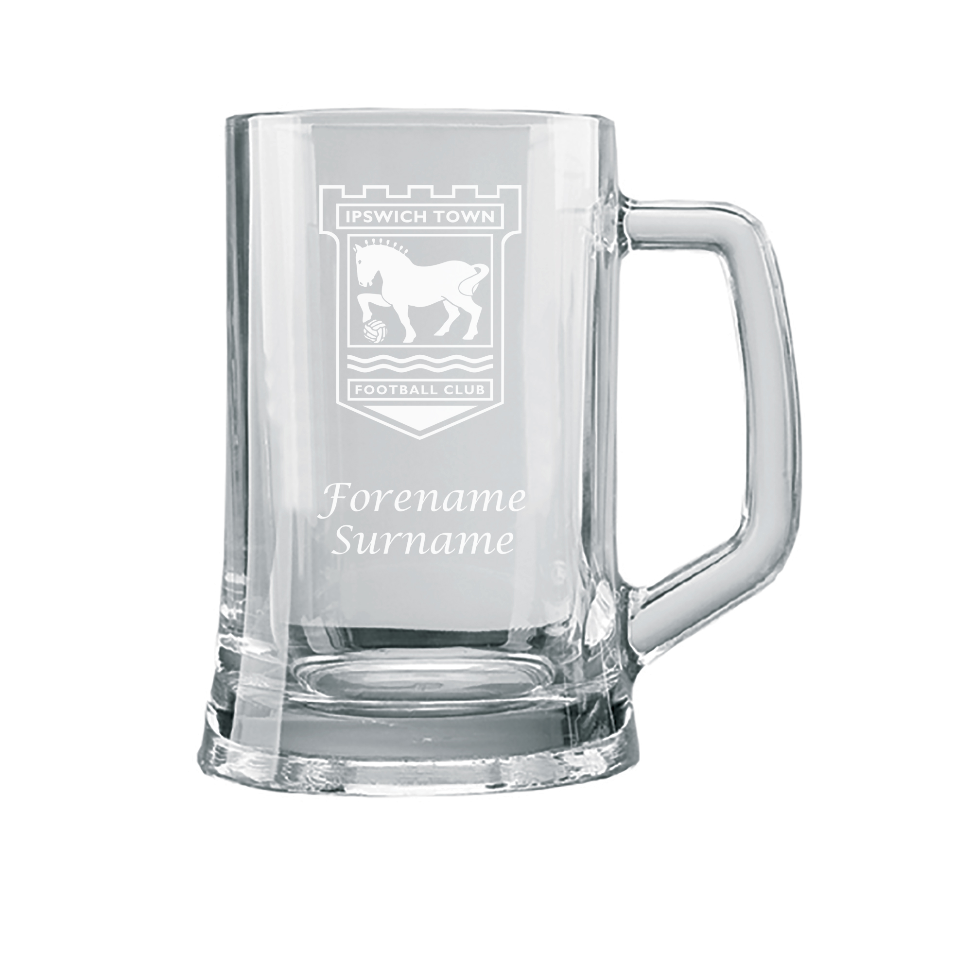 Ipswich Town FC Personalised Crest Small Plain Straight Sided Tankard