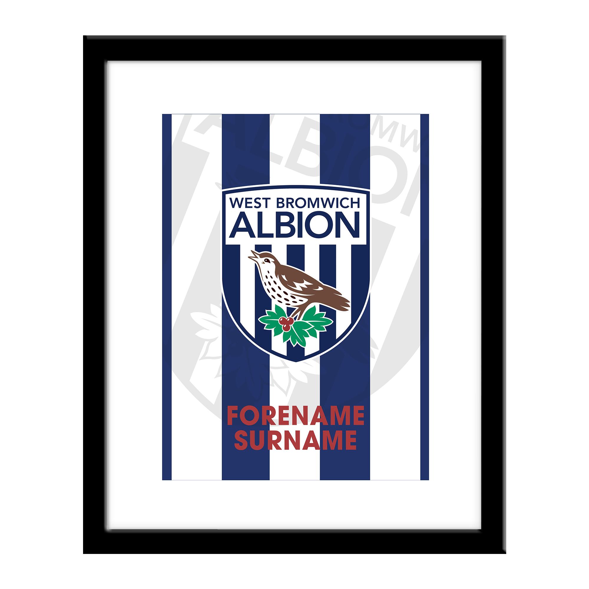 West Bromwich Albion FC Bold Crest Print