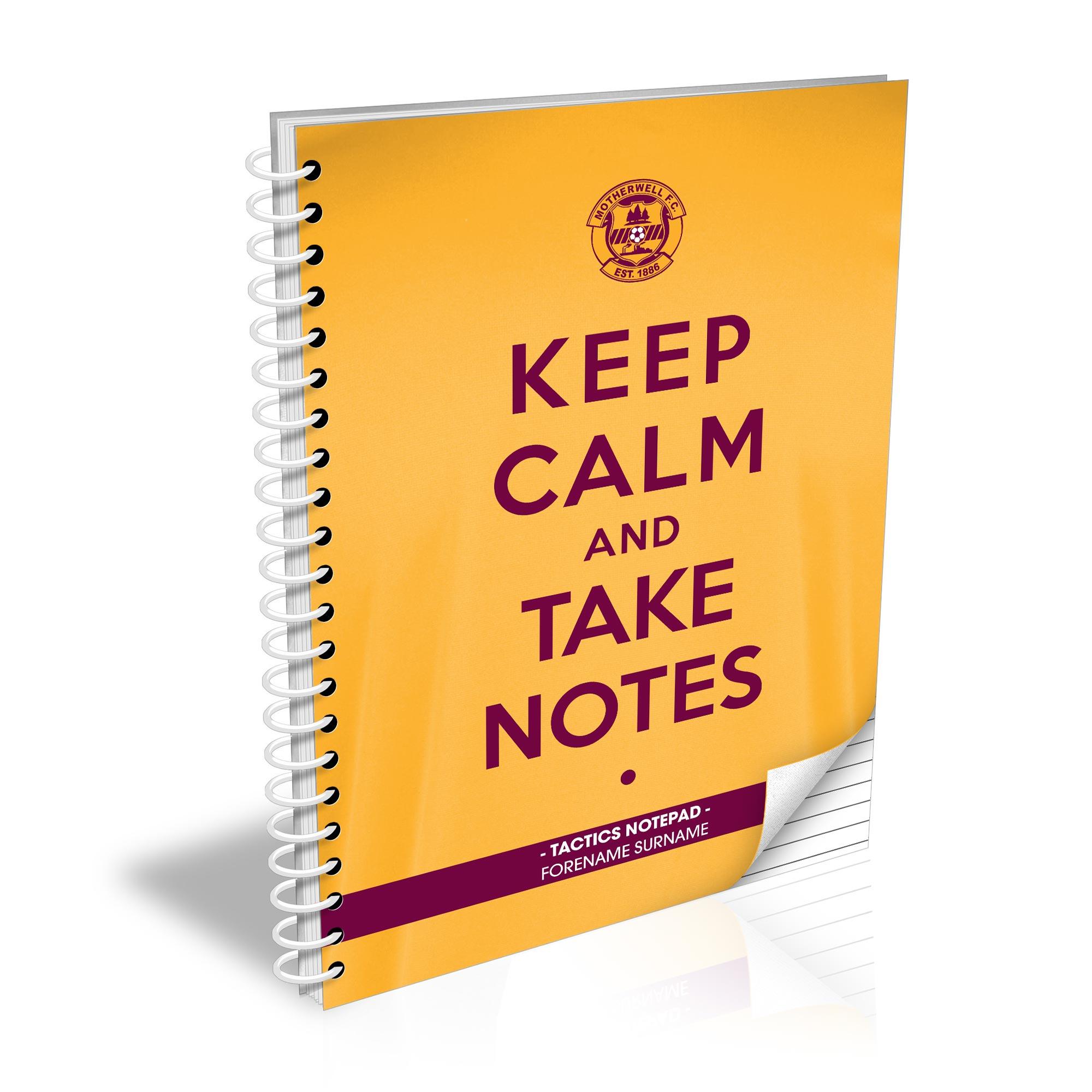 Motherwell FC Keep Calm Notebook