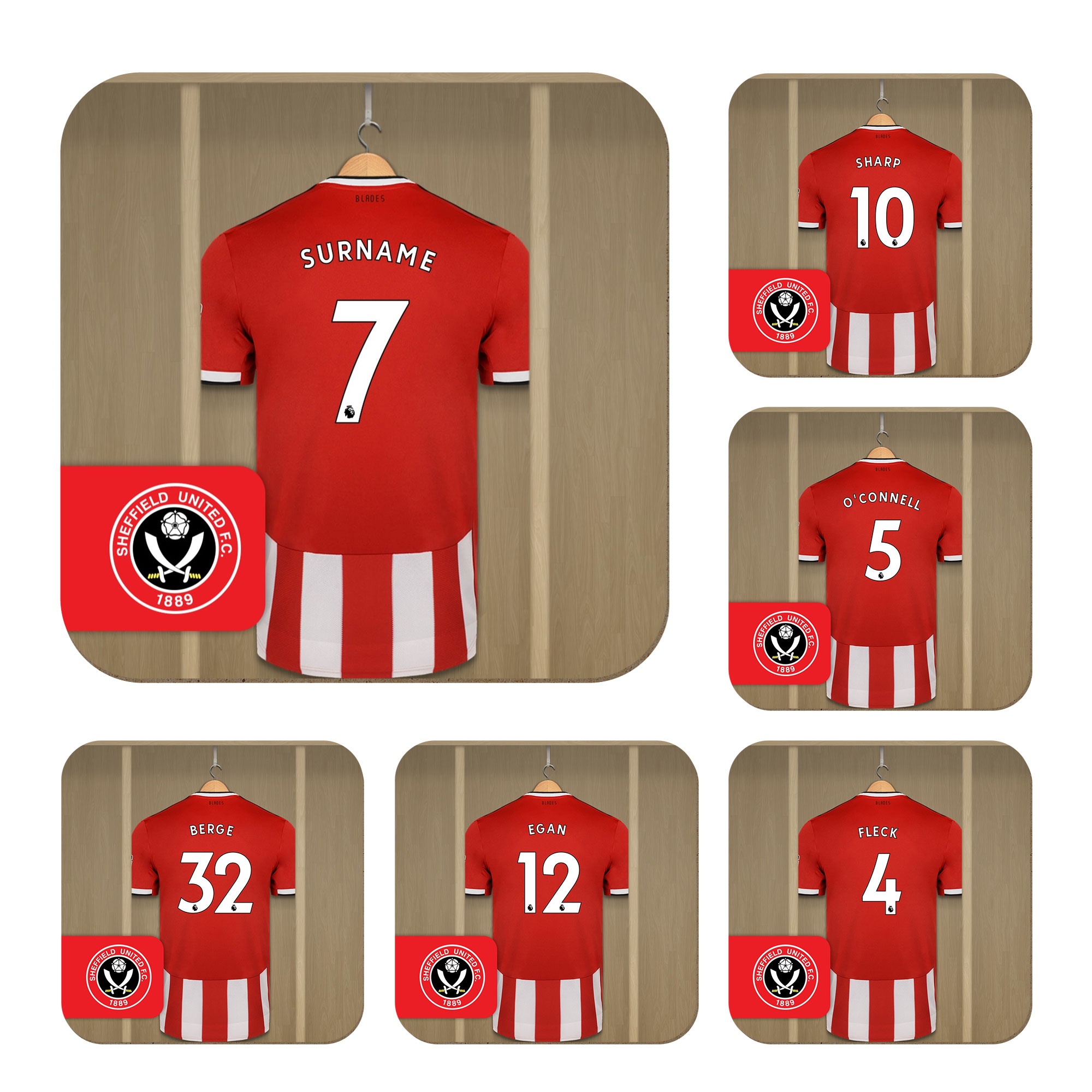 Sheffield United FC Dressing Room Coasters