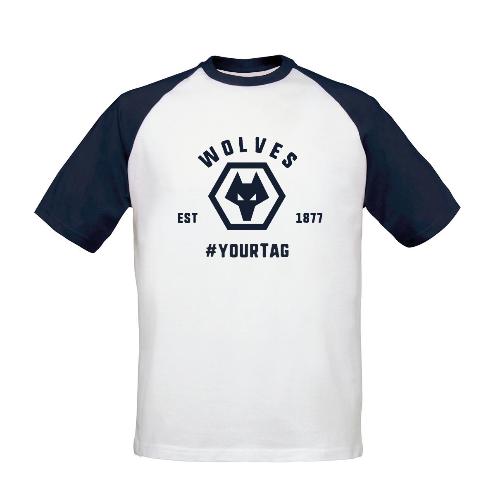 Wolves Vintage Hashtag Baseball T-Shirt