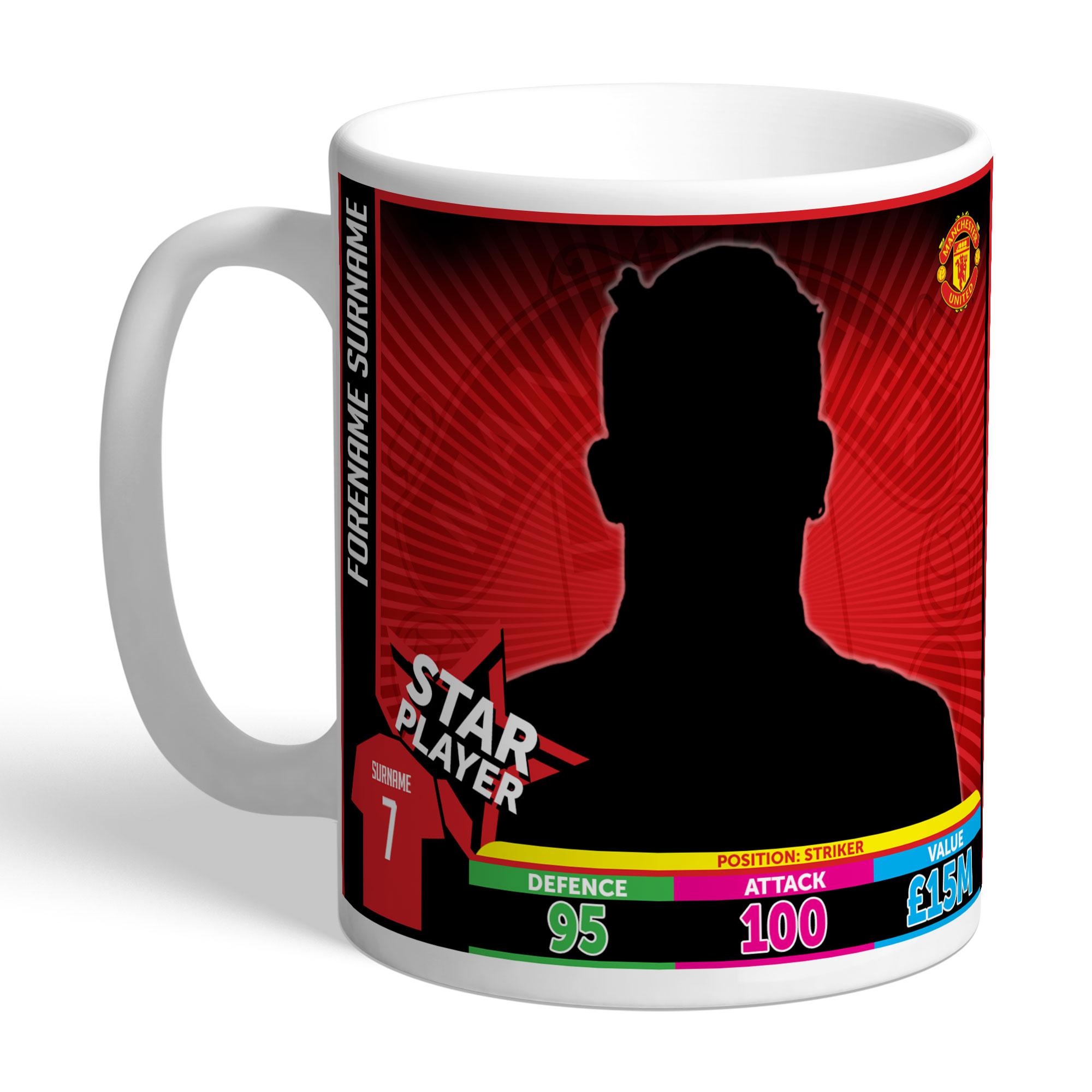 Manchester United FC Trading Card Mug