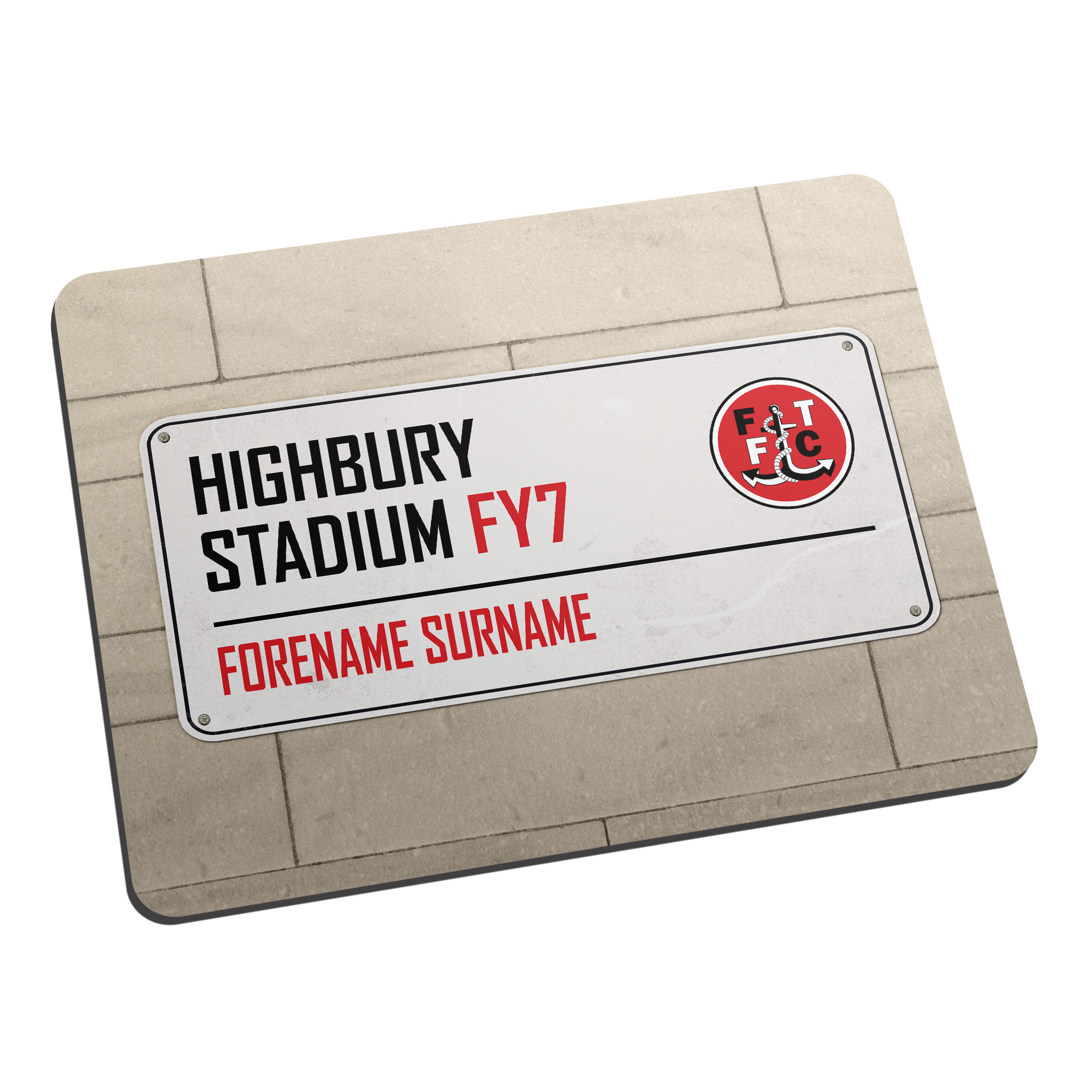Fleetwood Town FC Street Sign Mouse Mat