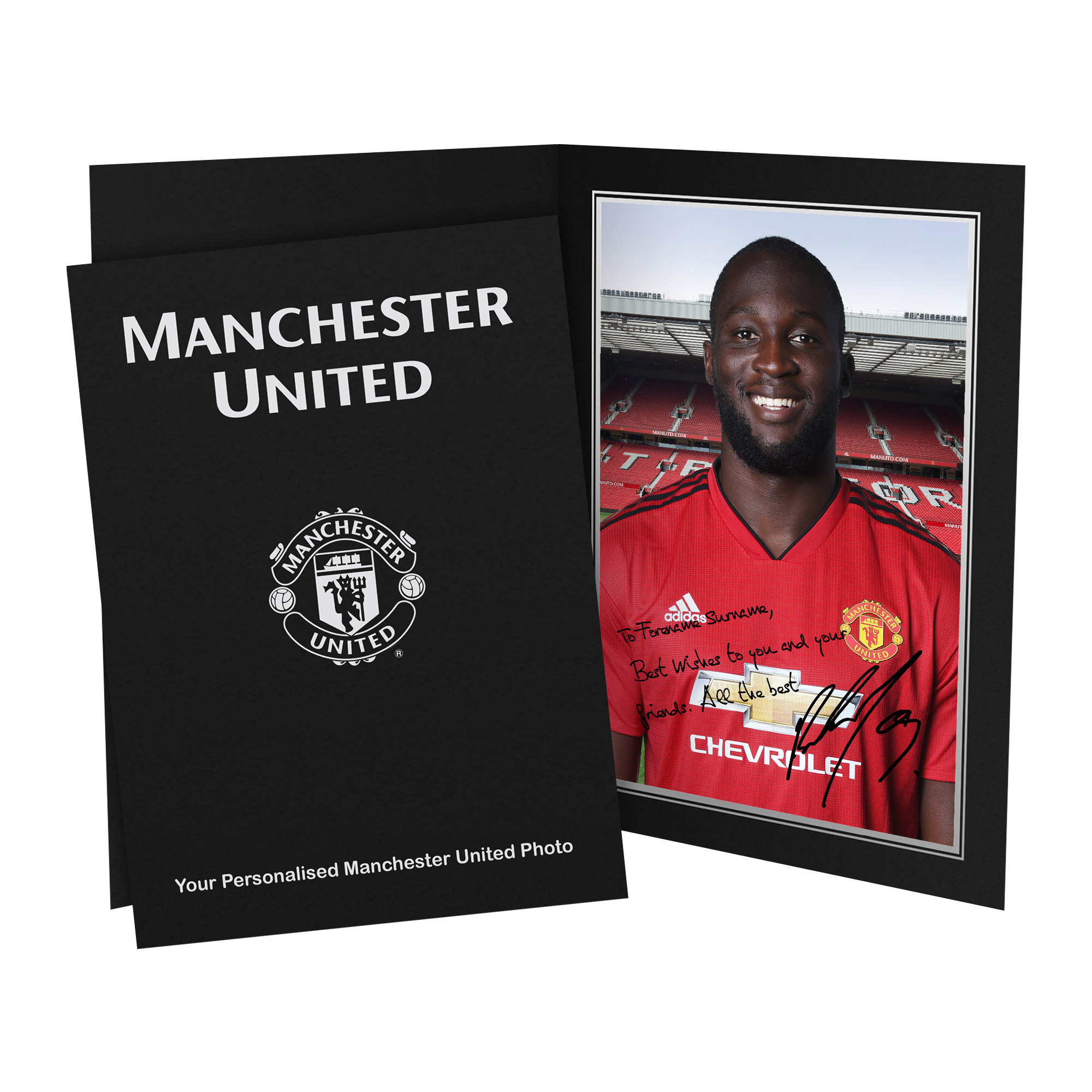 Manchester United FC Lukaku Autograph Photo Folder