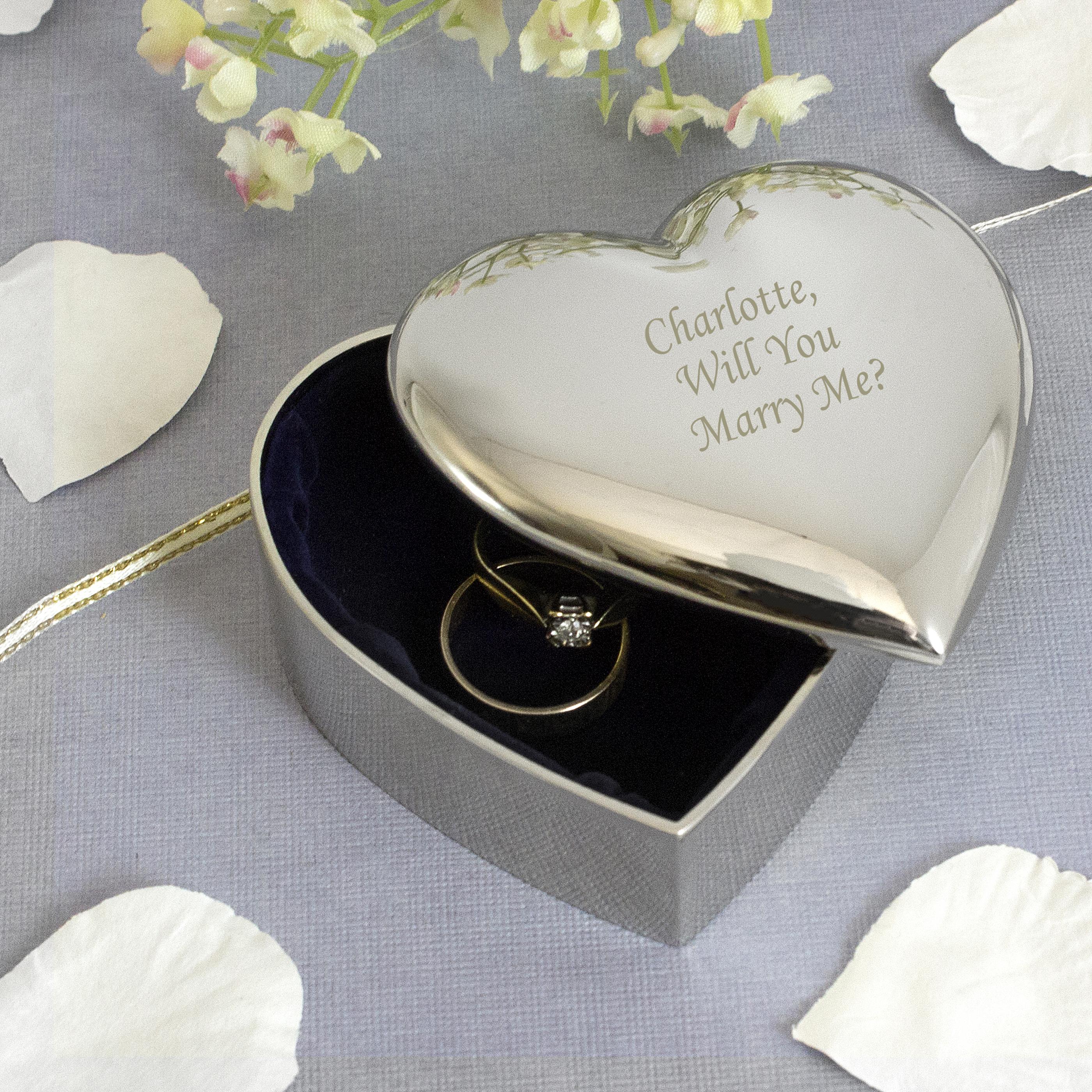 Engraved Heart Trinket Box