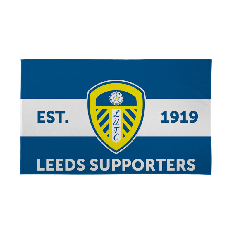 Leeds United FC Supporters 5ft x 3ft Banner
