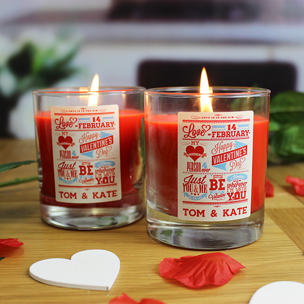 Be My Valentine Candle Set - Personalised Me