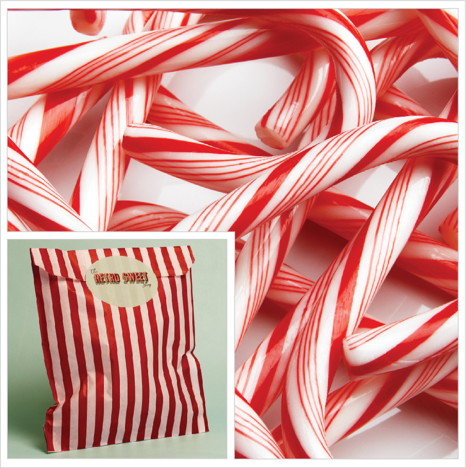 Candy Canes Sweet Bag