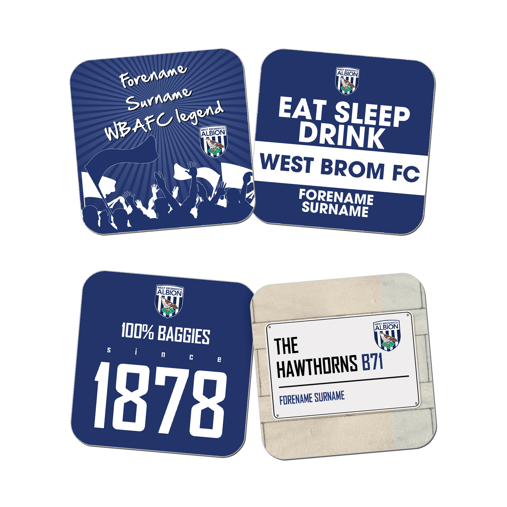 West Bromwich Albion FC Coasters