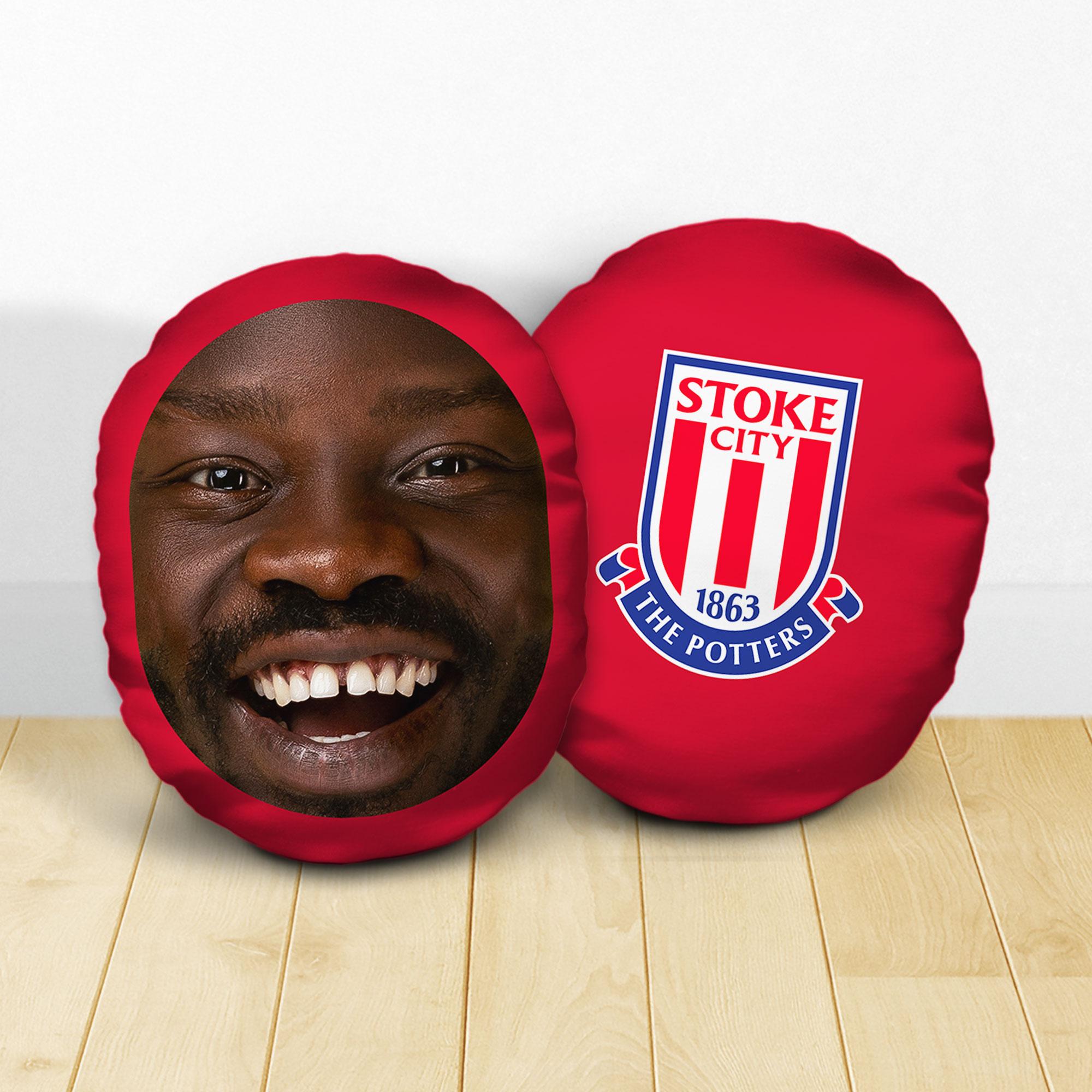 Personalised Stoke City FC Crest Mush Cush