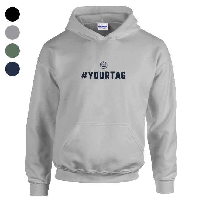 Manchester City FC Crest Hashtag Hoodie
