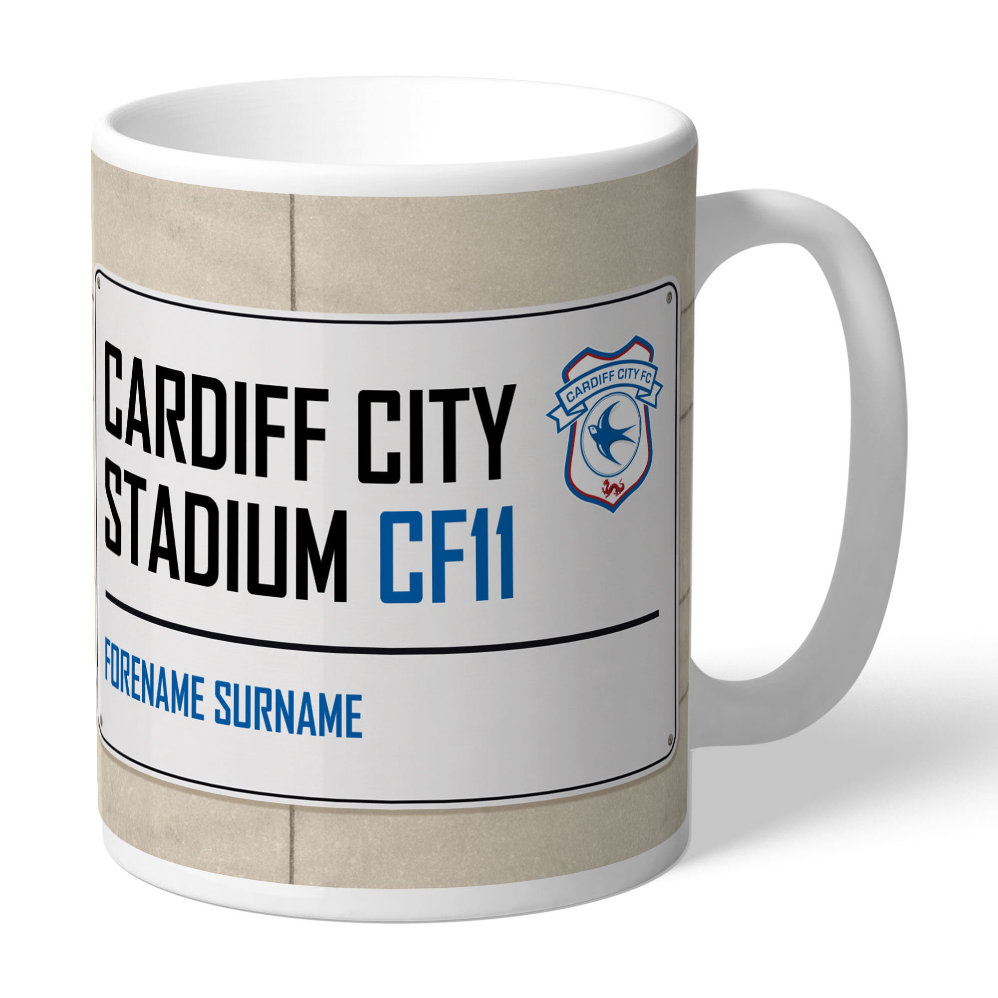 Cardiff City FC Street Sign Mug