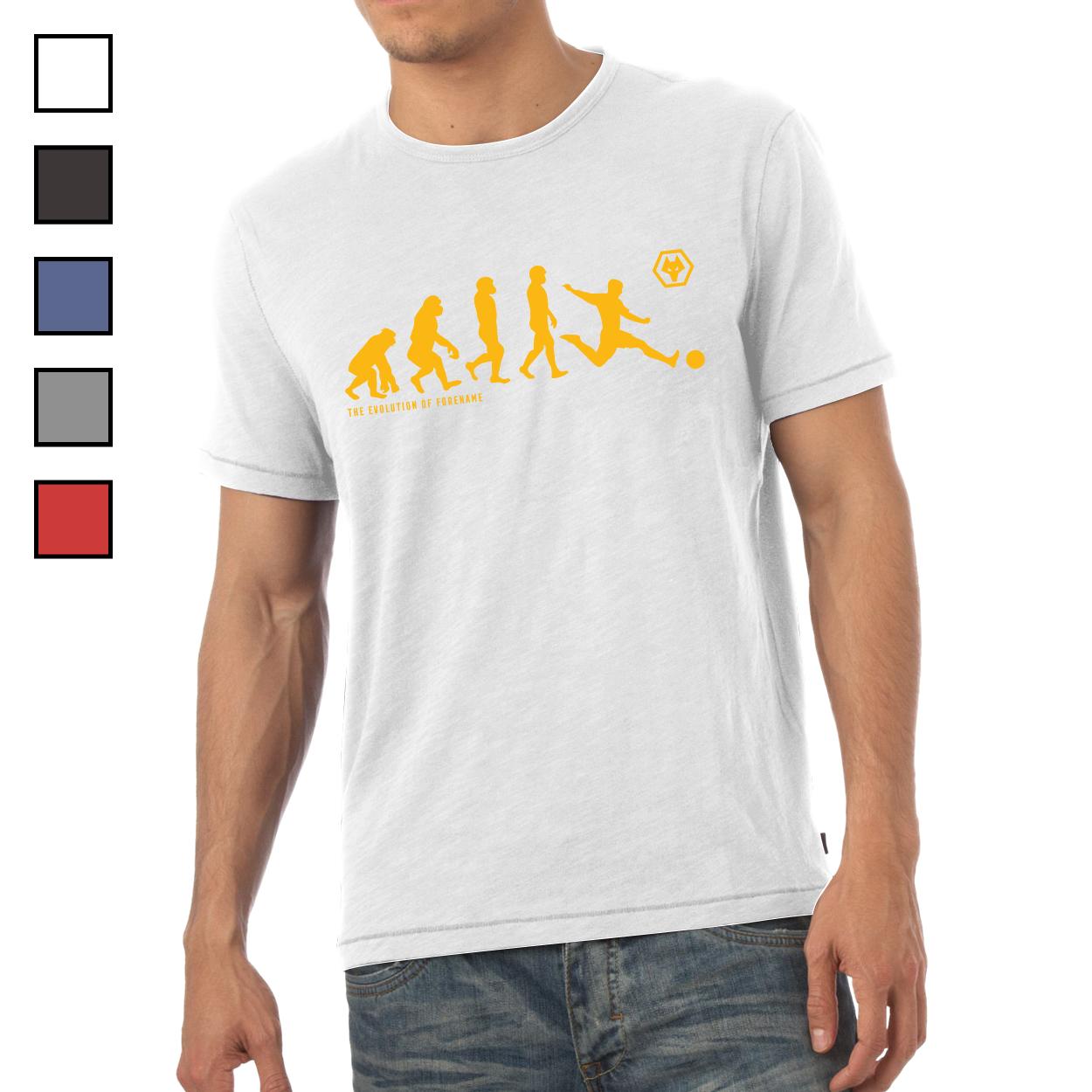 Wolverhampton Wanderers FC Evolution Mens T-Shirt
