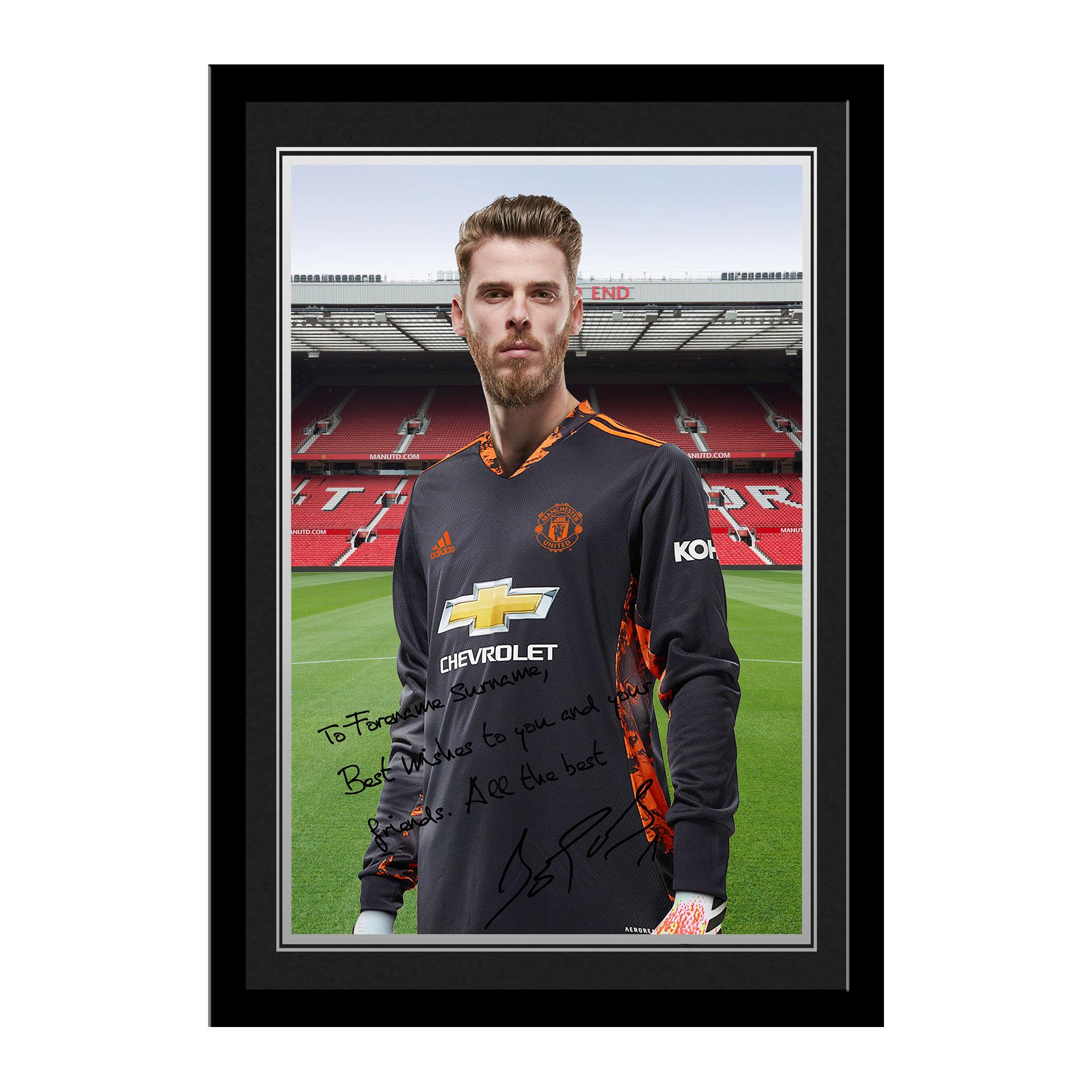 Manchester United FC De Gea Autograph Photo Framed