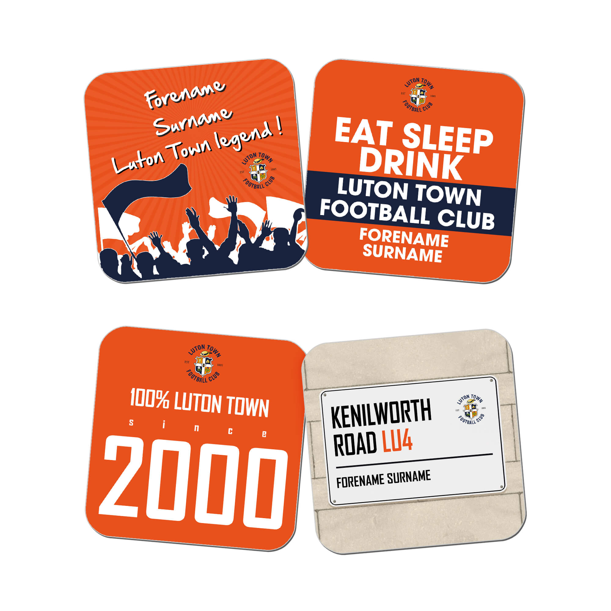Luton Town FC Coasters