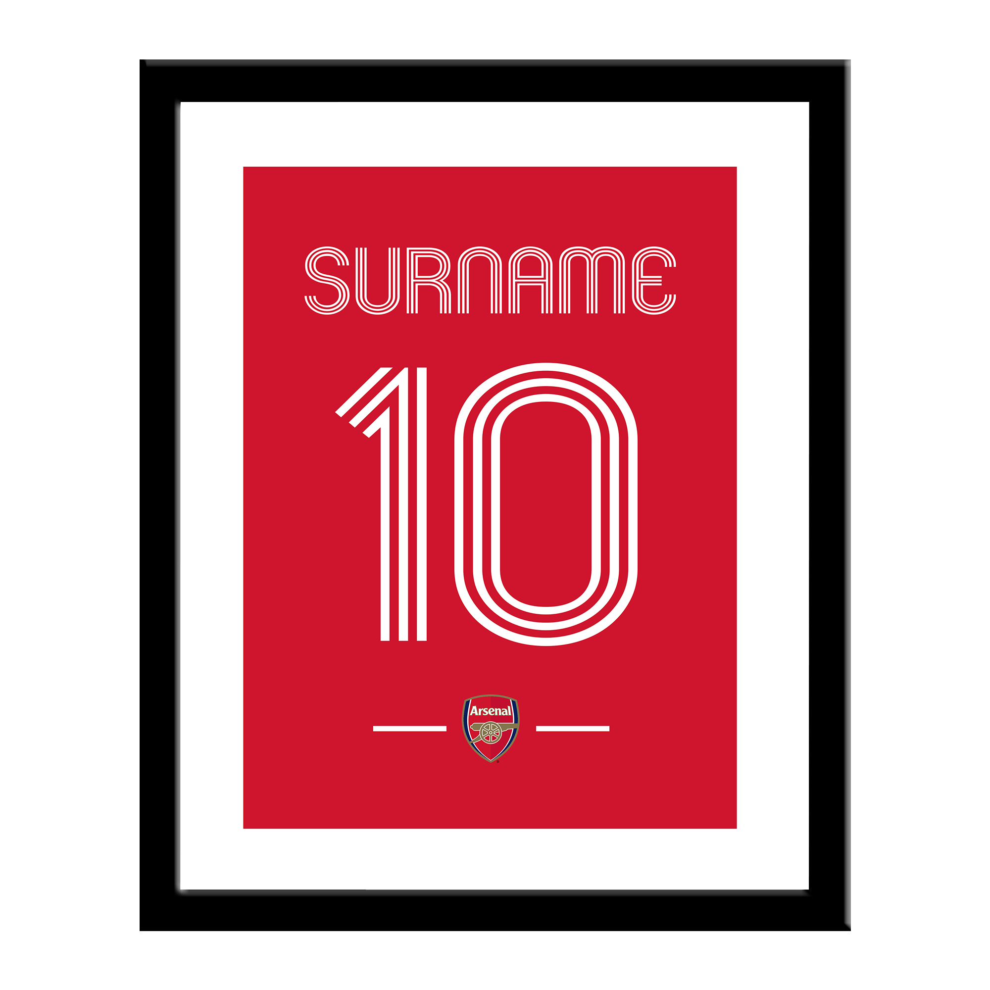 Arsenal FC Retro Shirt Print