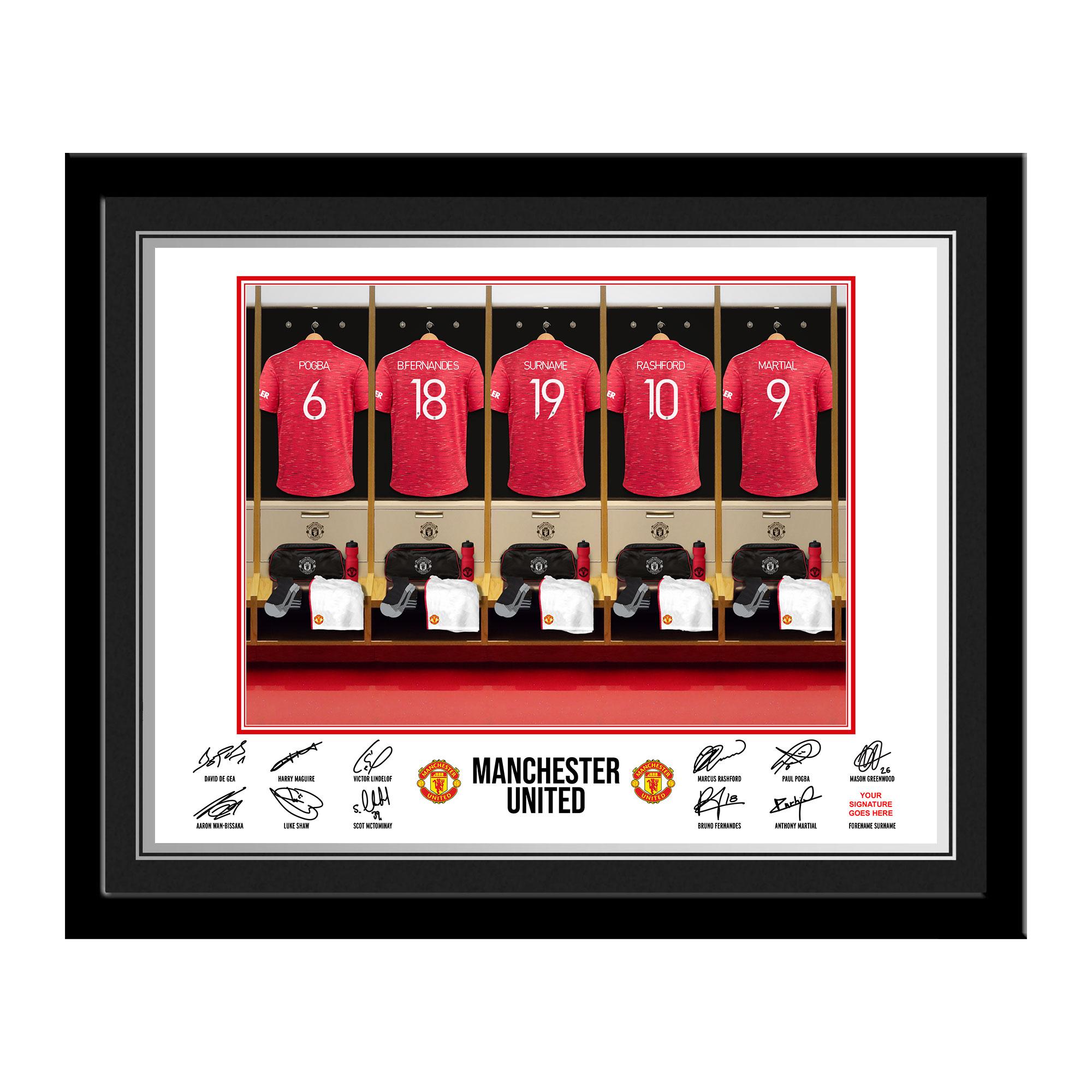 Manchester United FC Dressing Room Photo Framed