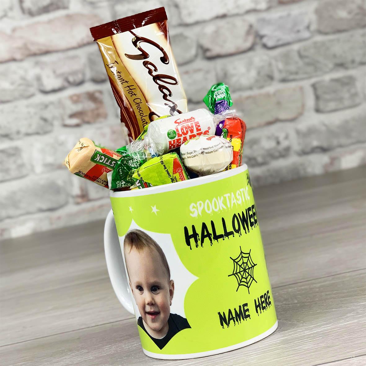 Spooktastic Halloween Photo Upload - Personalised Mug With Sweets