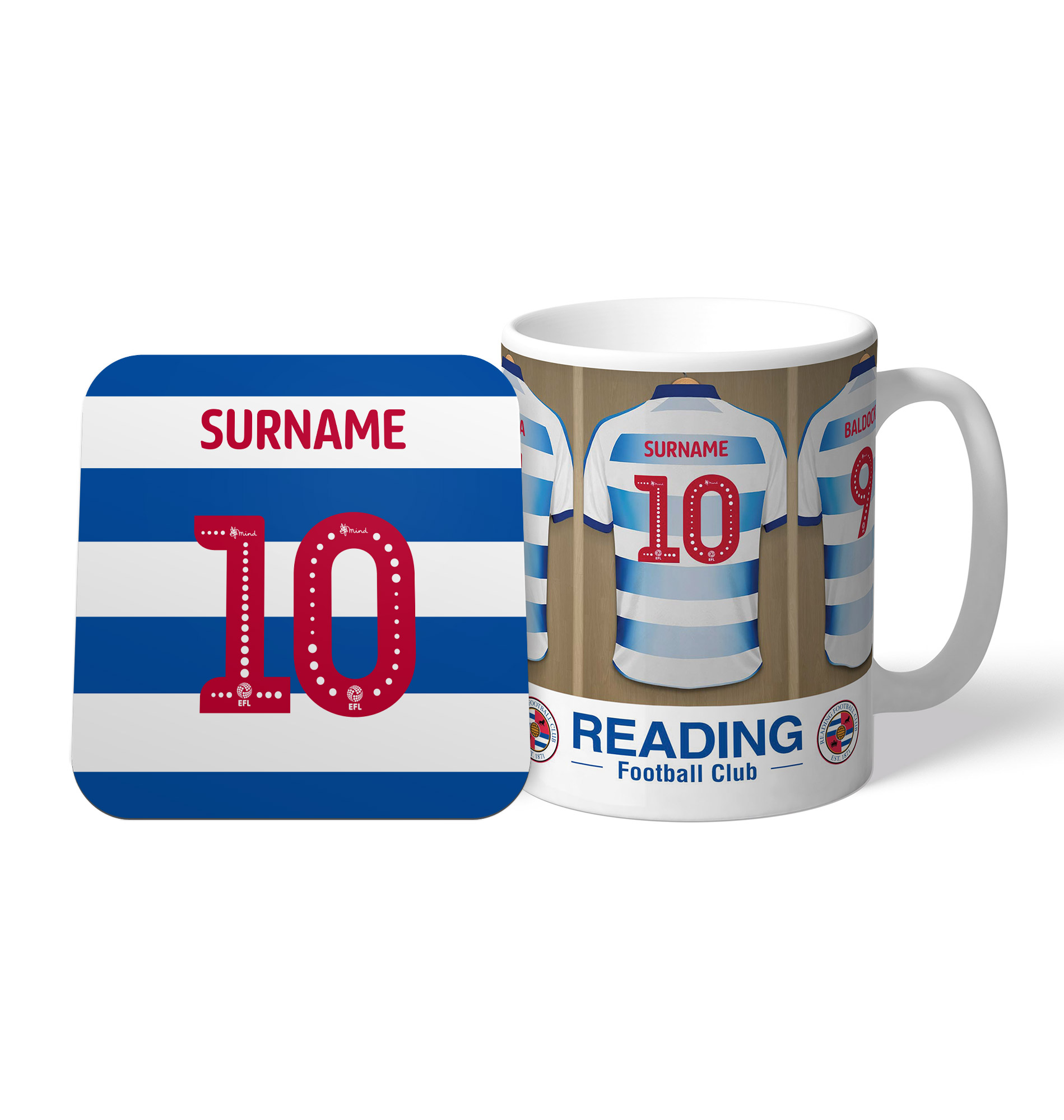 Reading FC Dressing Room Mug & Coaster Set